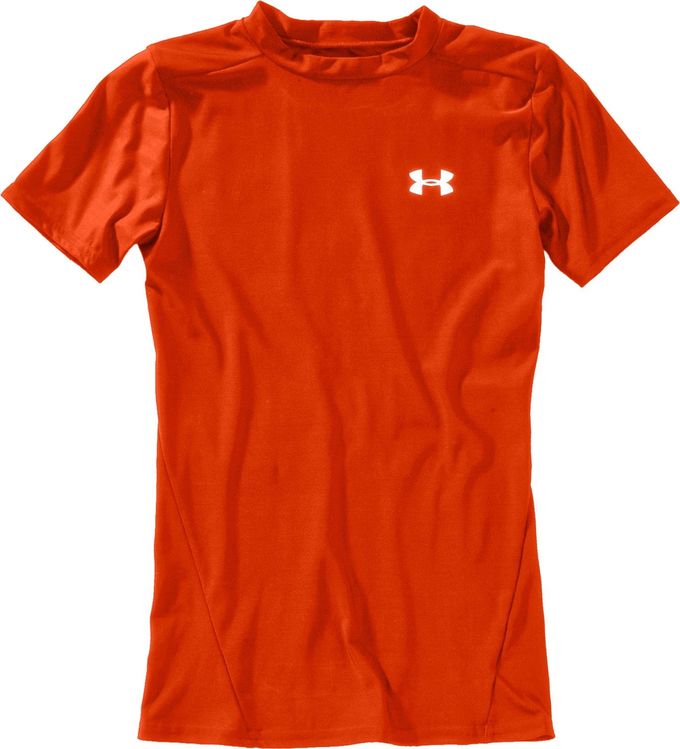 Boys' Short Sleeve HeatGear® T-Shirt II, Dark Orange, Laydown