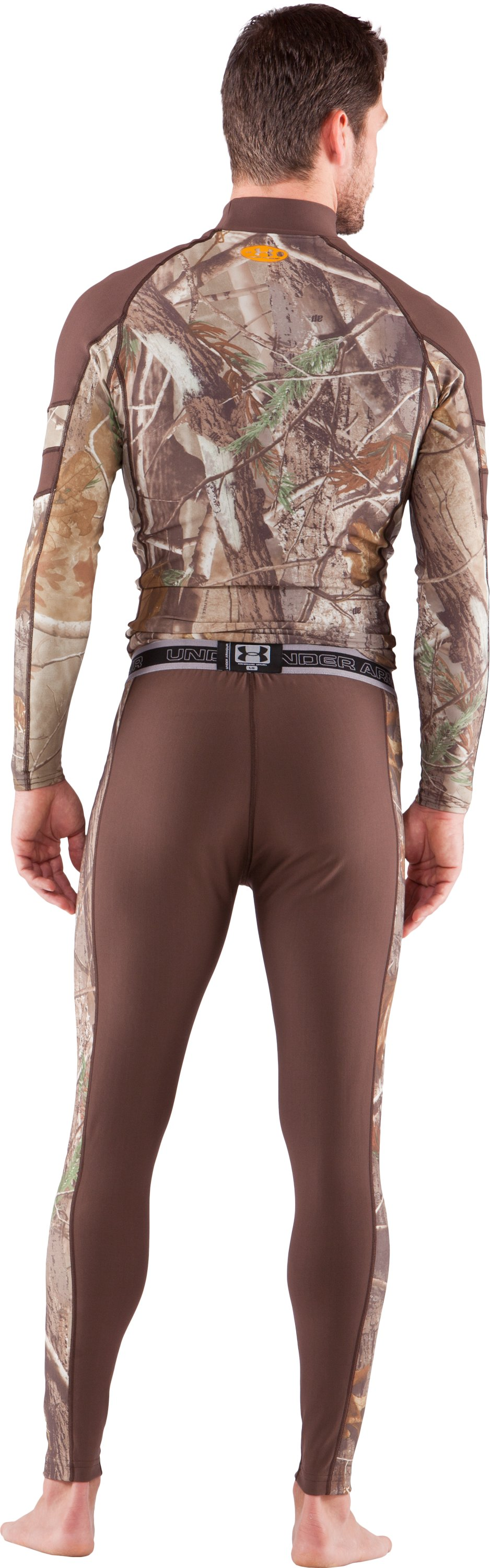Men's UA Capture Compression Hunting Leggings, Timber, Back