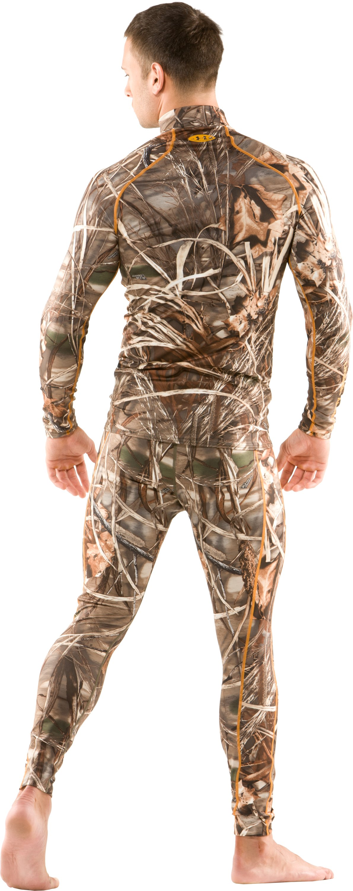 Men's UA Evolution Camo ColdGear® Long Sleeve Mock, Realtree Max, Back