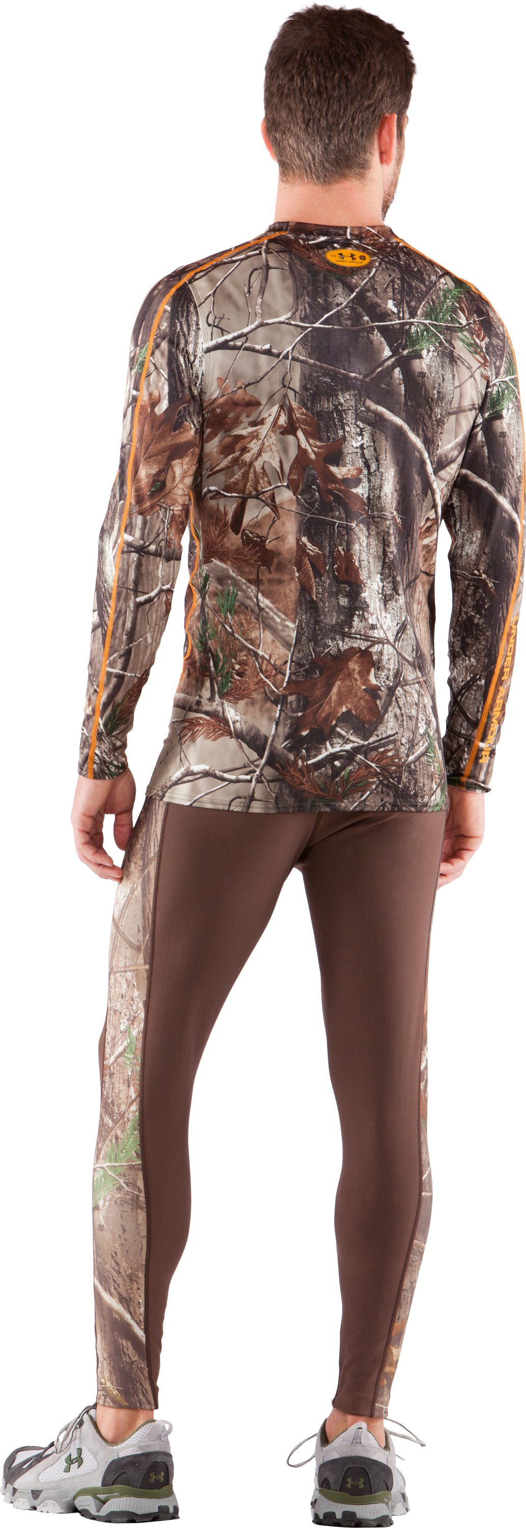 Men's UA Evolution Camo ColdGear® Long Sleeve Crew, Realtree AP, Back