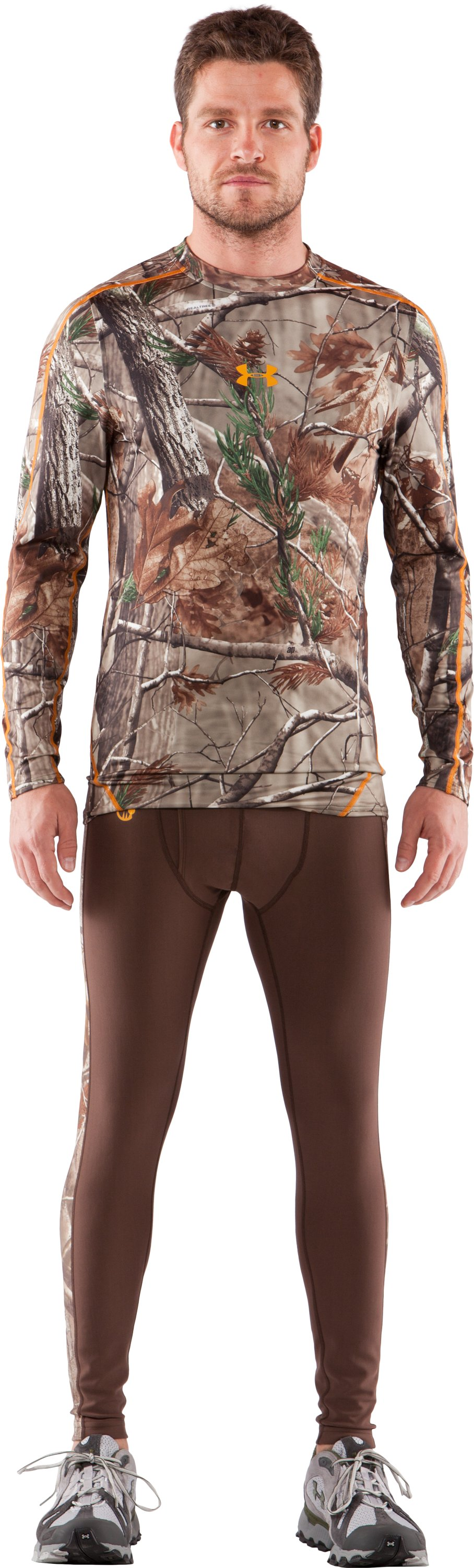 Men's UA Evolution Camo ColdGear® Long Sleeve Crew, Realtree AP, Front