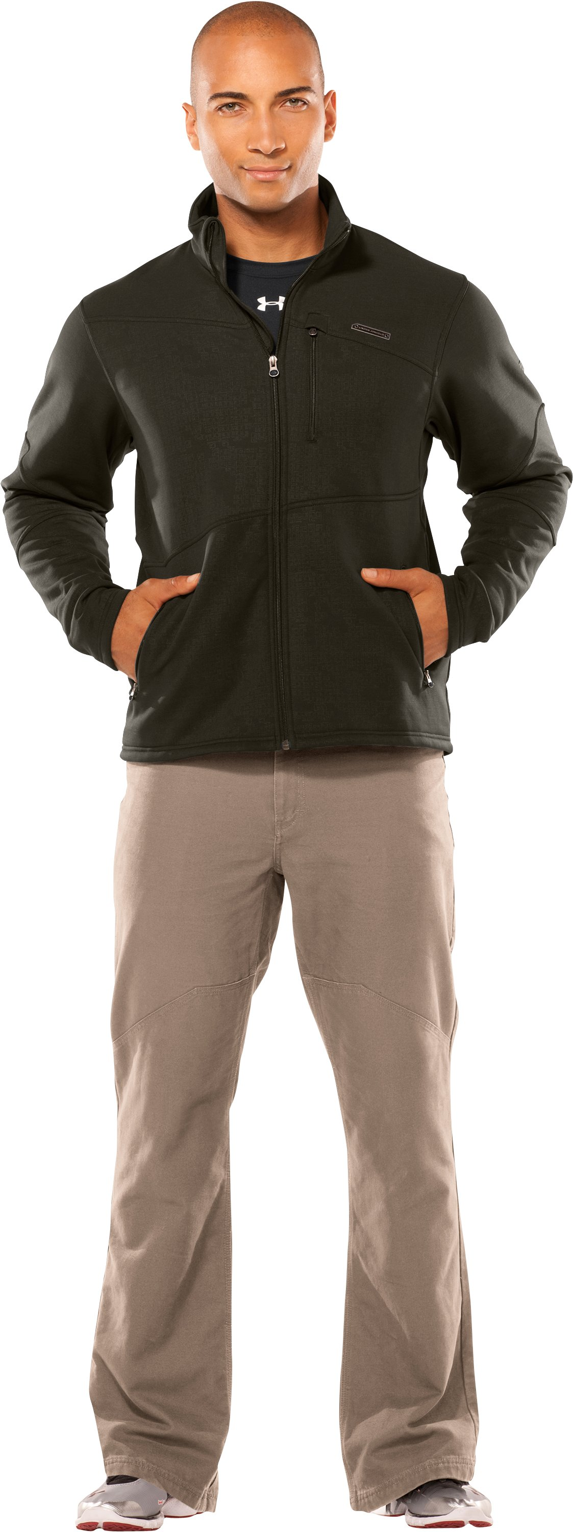 Men's Dervos Fleece Jacket, Rifle Green, Front