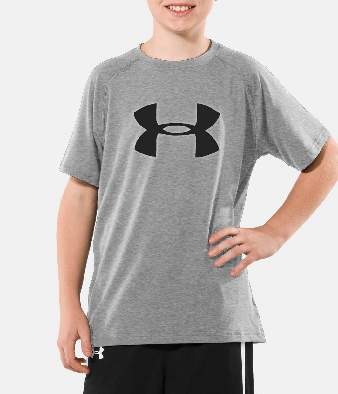Boys Big Logo Ua Tech Short Sleeve T Shirt Under Armour Us