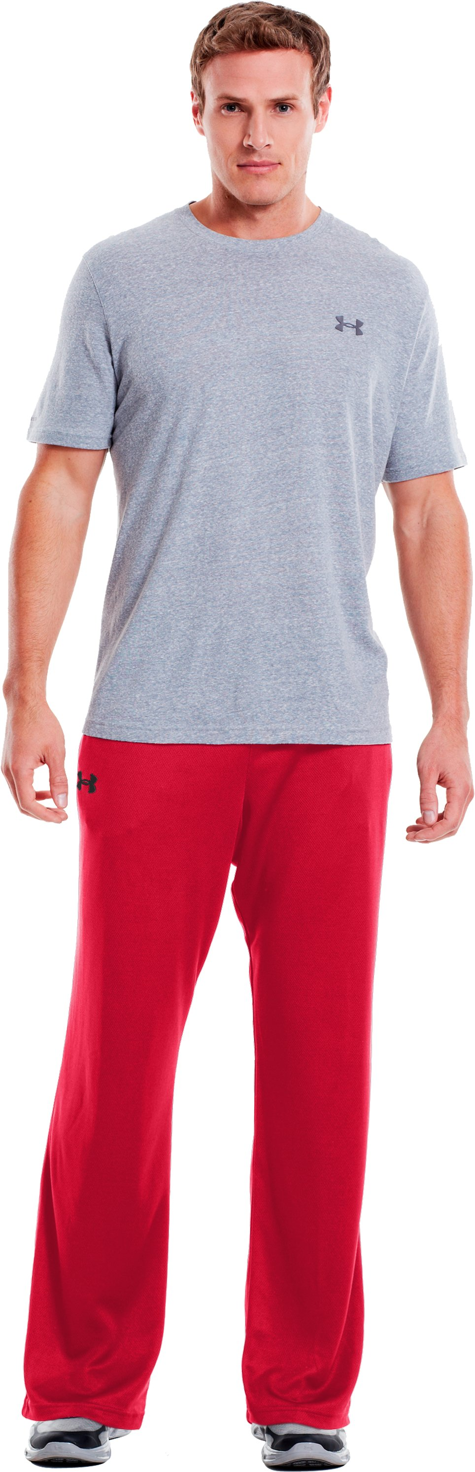 Men's UA Flex Warm-Up Pants, Red, Front