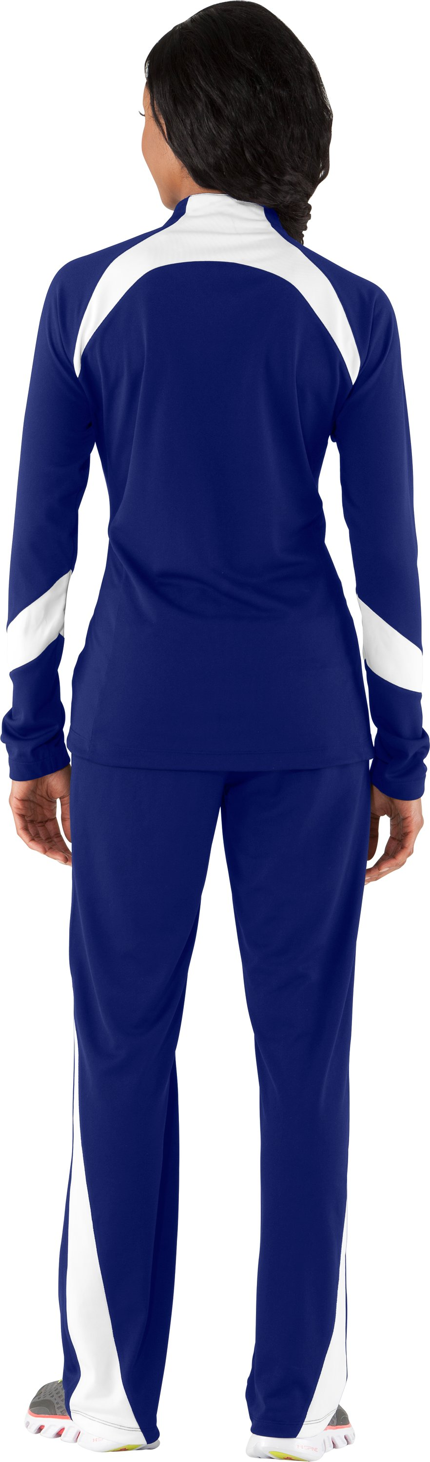 Women's UA Hype Jacket, Royal, Back