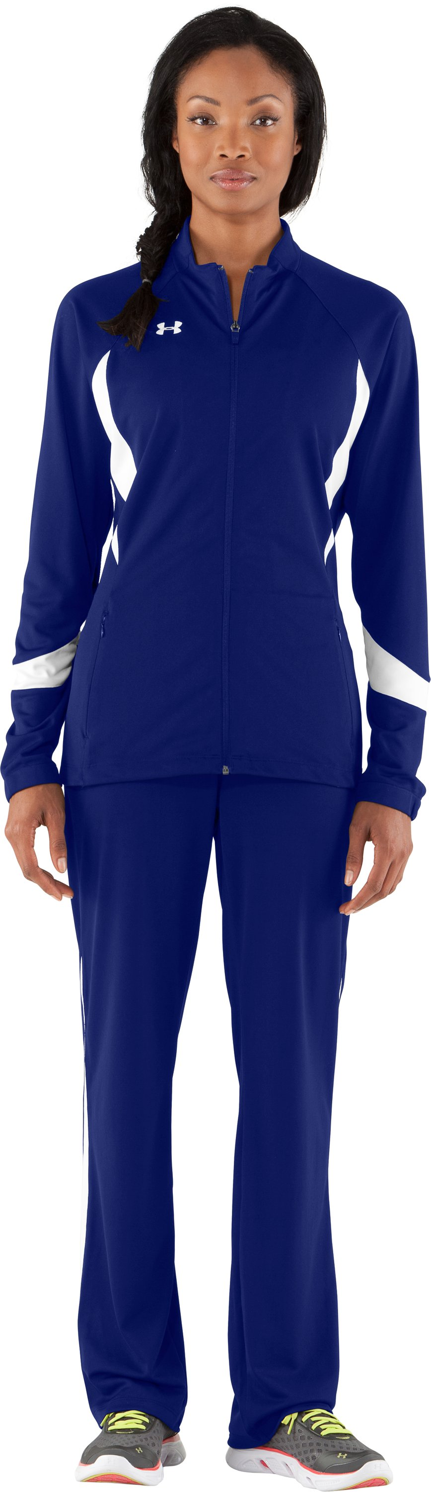 Women's UA Hype Jacket, Royal, Front