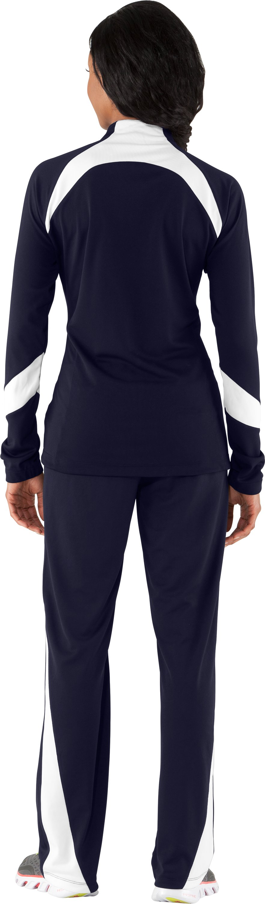 Women's UA Hype Jacket, Midnight Navy, Back