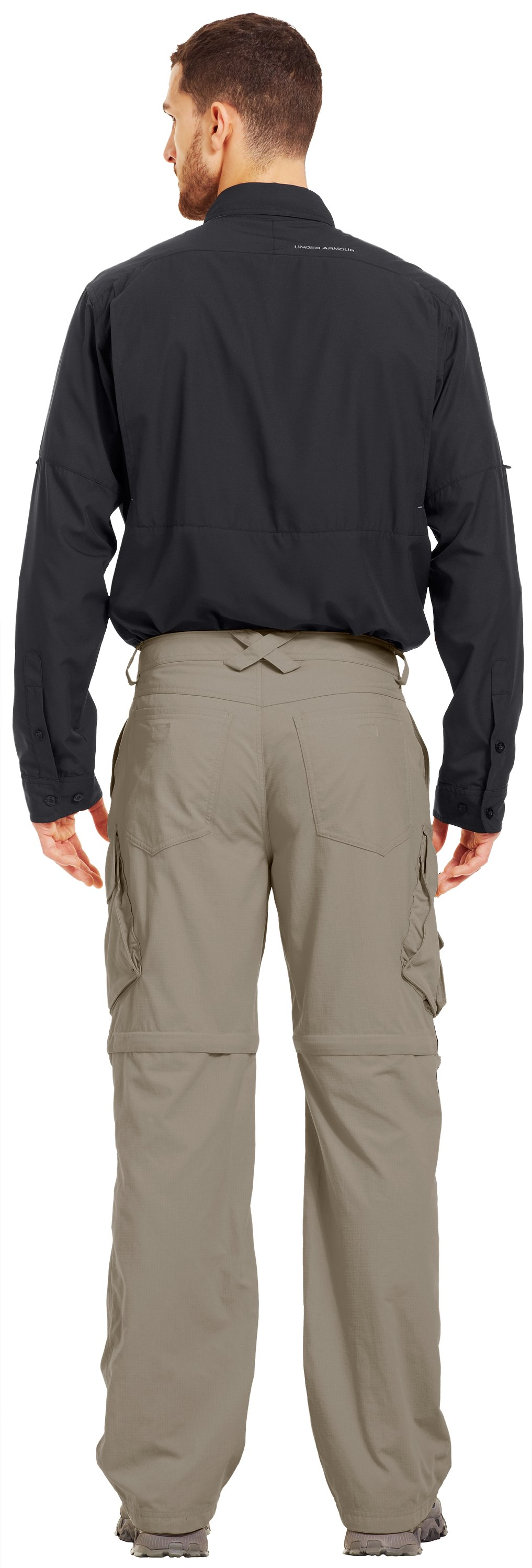 Men's UA Guide Zip-Off Trail Pants III, BRANCH, Back