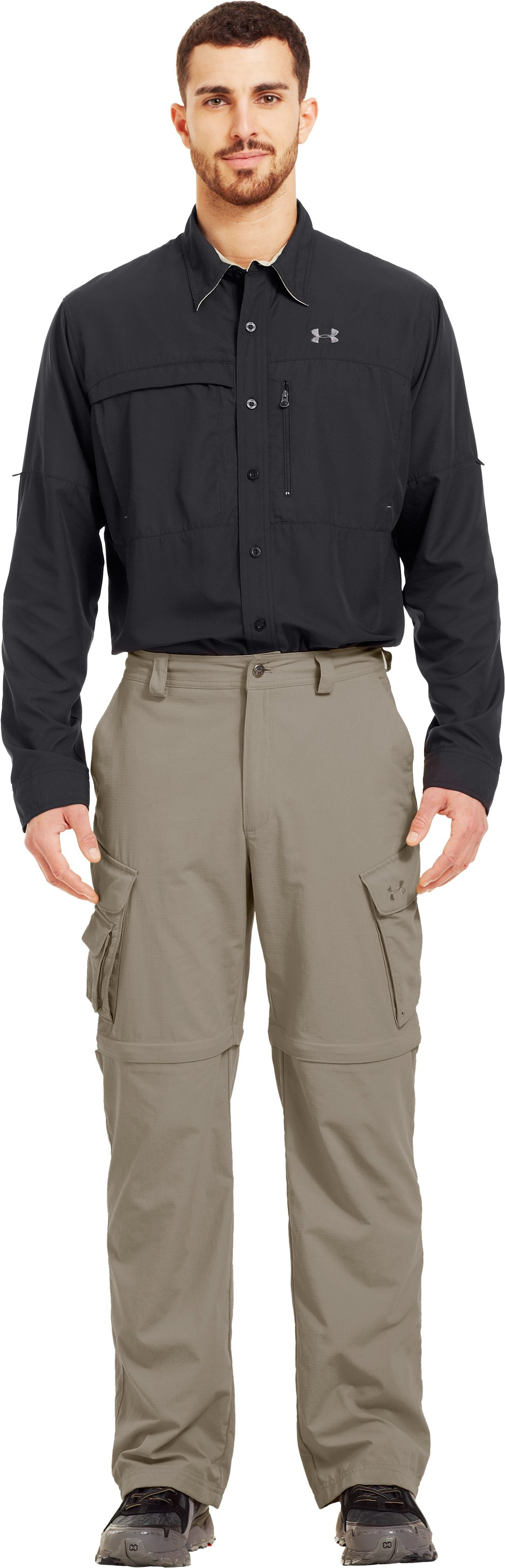 Men's UA Guide Zip-Off Trail Pants III, BRANCH, zoomed image