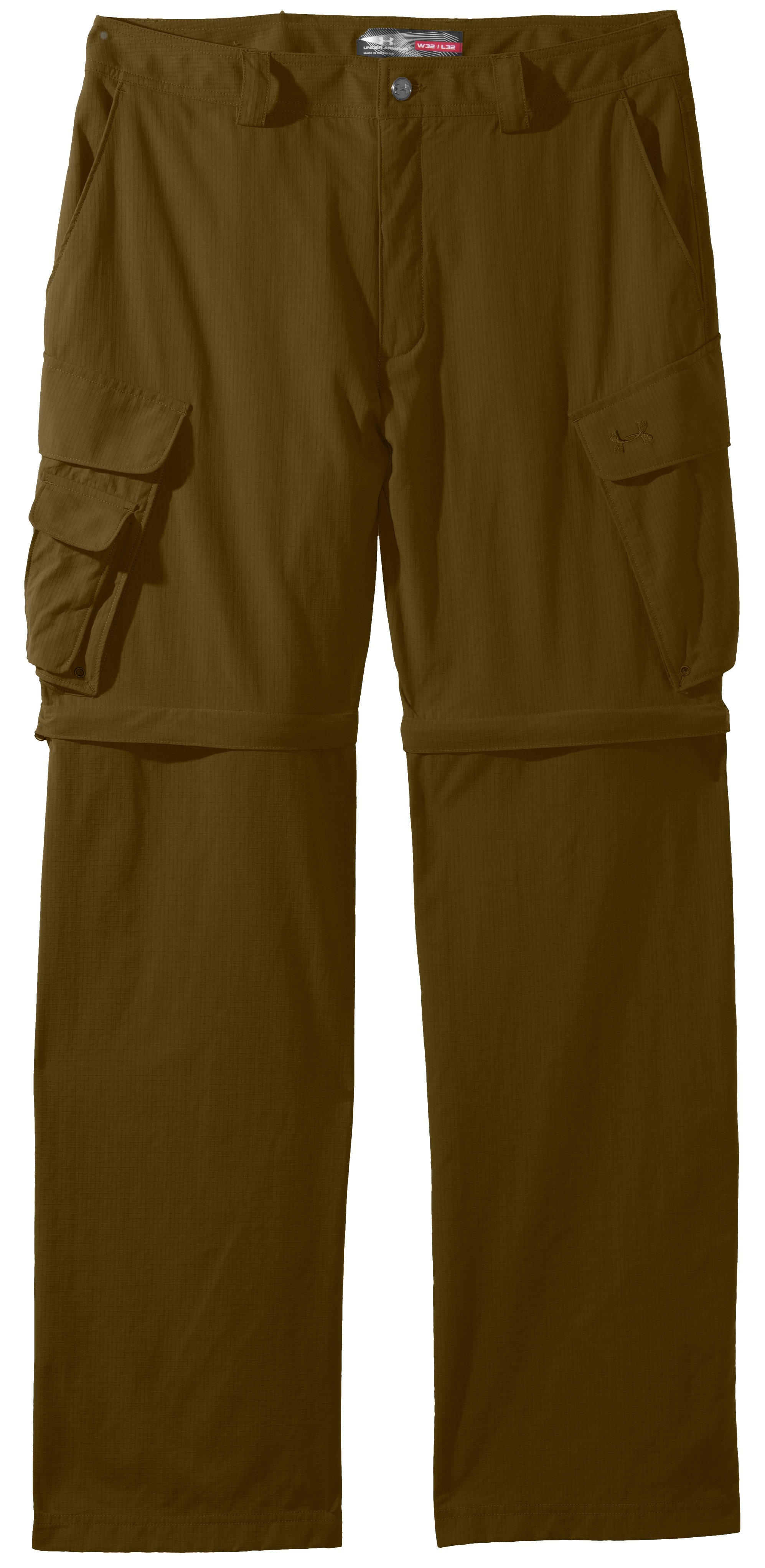 Men's UA Guide Zip-Off Trail Pants III, Drab, Laydown