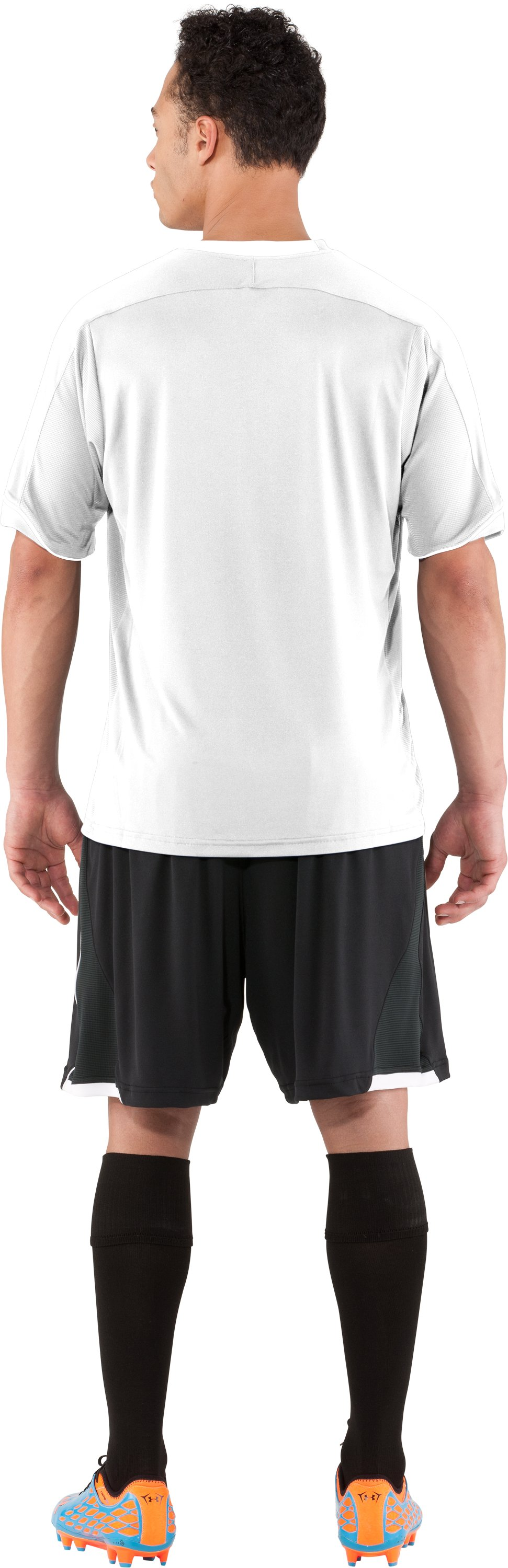 Men's UA Strike Short Sleeve Soccer Jersey, White, Back