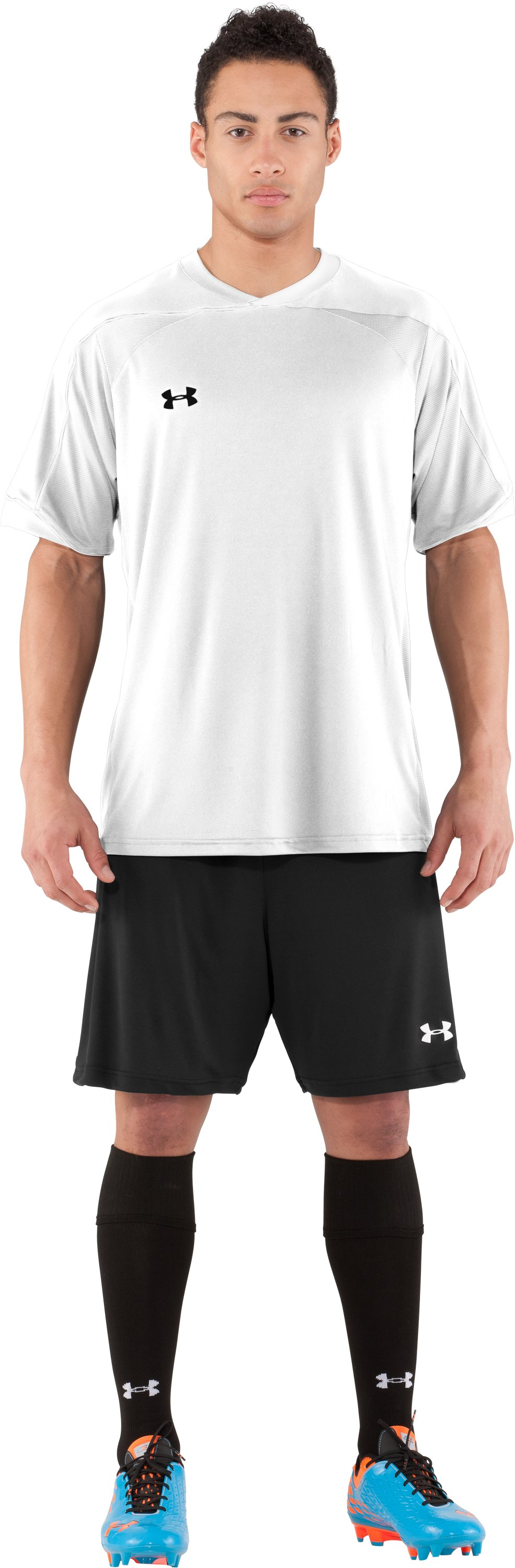 Men's UA Strike Short Sleeve Soccer Jersey, White, Front