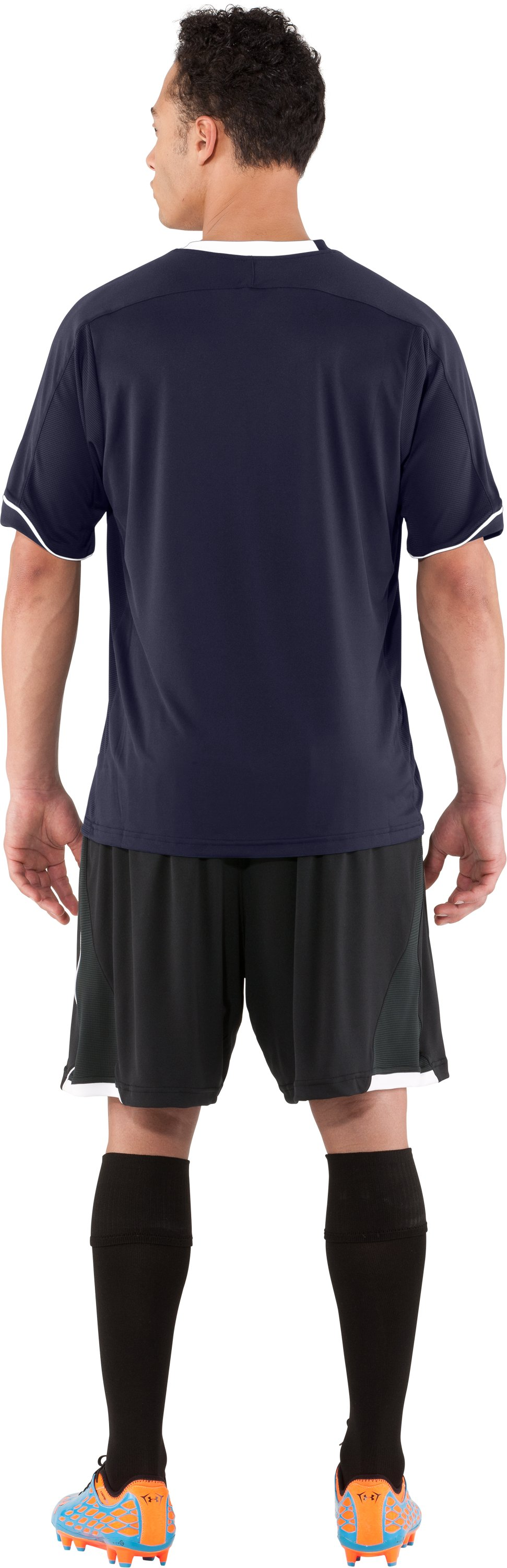 Men's UA Strike Short Sleeve Soccer Jersey, Midnight Navy, Back