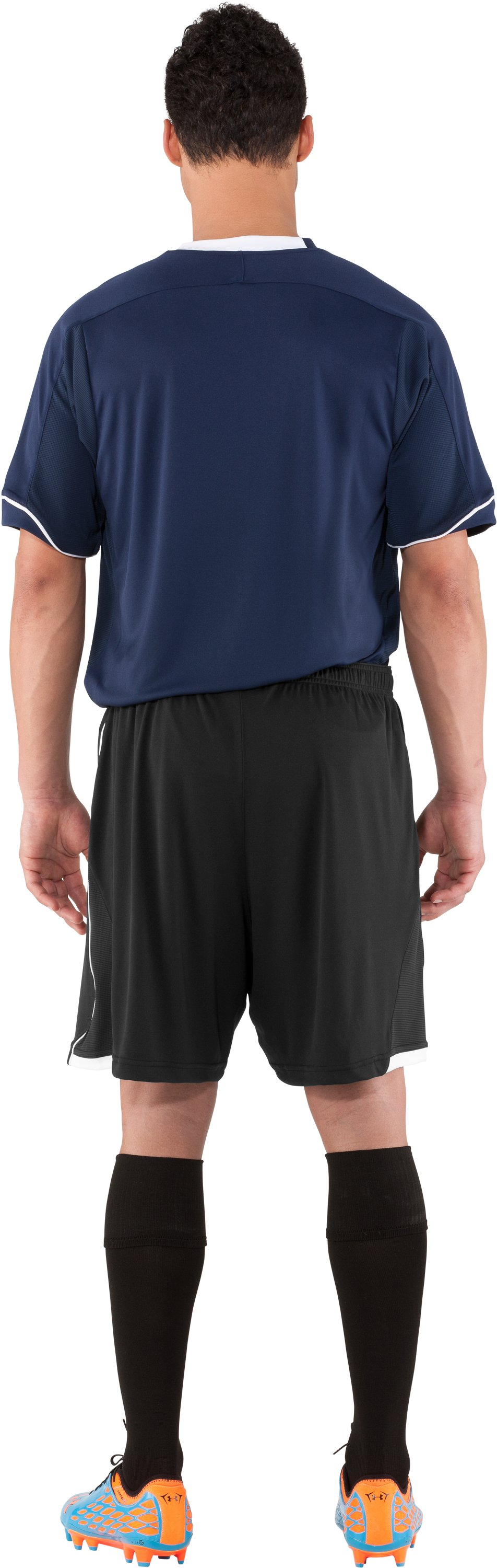 Men's UA Strike Soccer Shorts, Black , Back