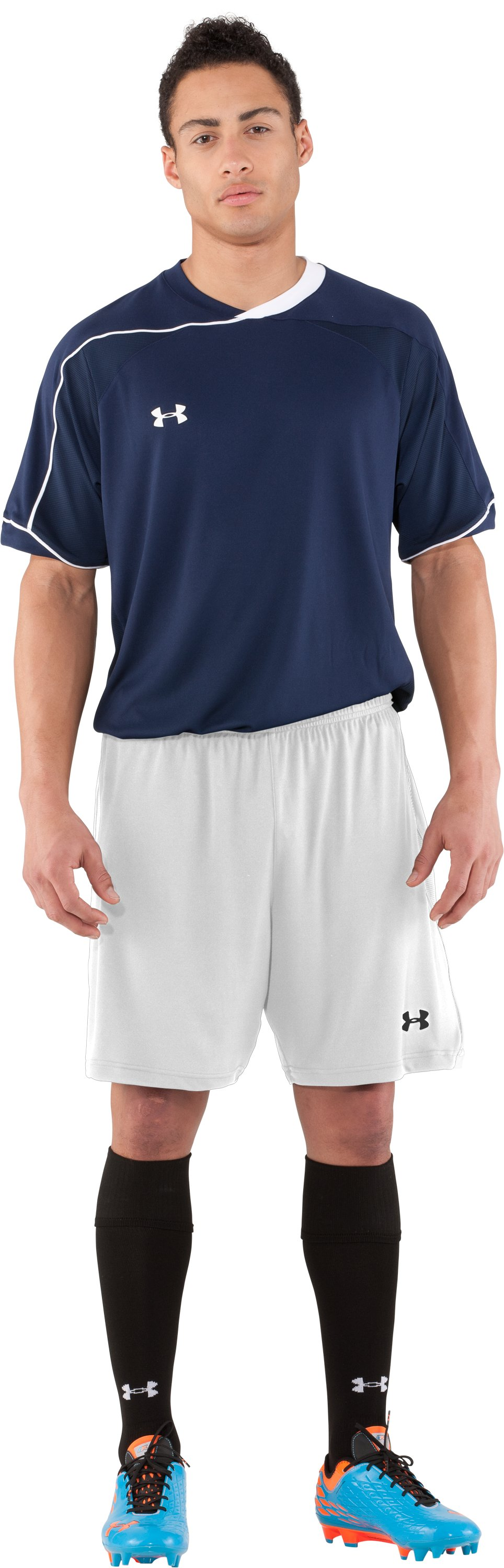 Men's UA Strike Soccer Shorts, White, zoomed image