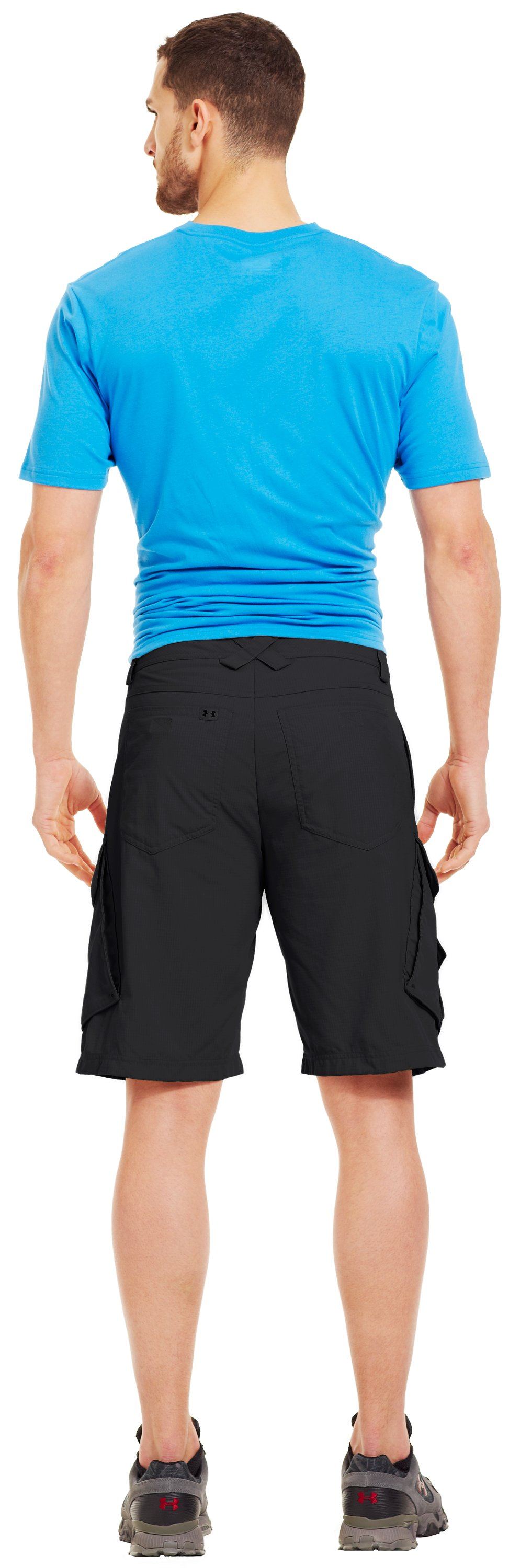 Men's UA Guide III Short, Black , Back