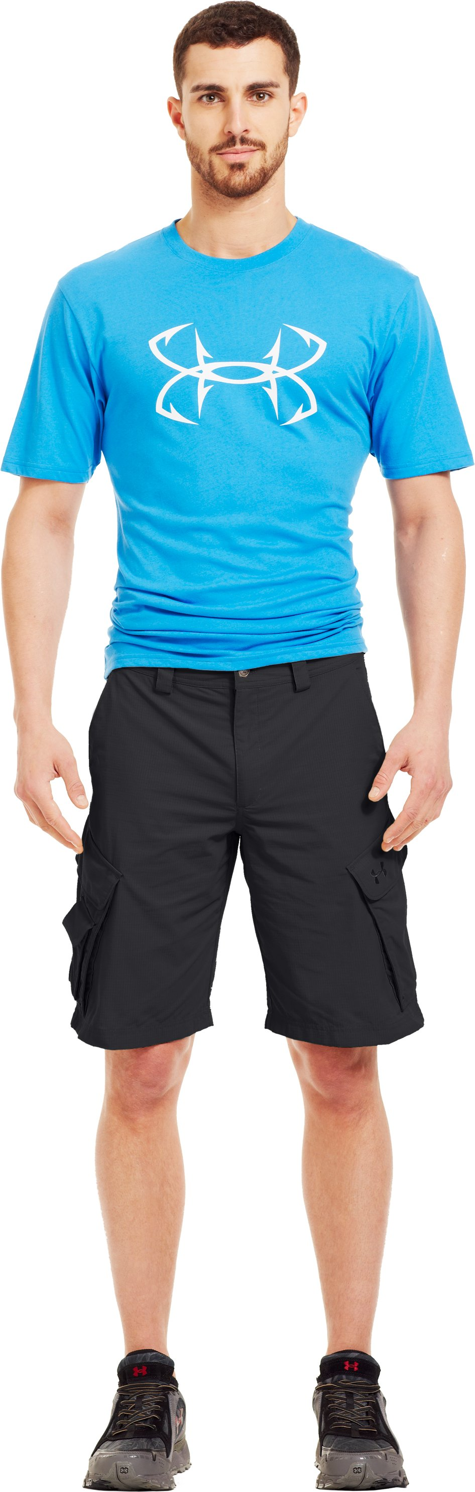Men's UA Guide III Short, Black , zoomed image