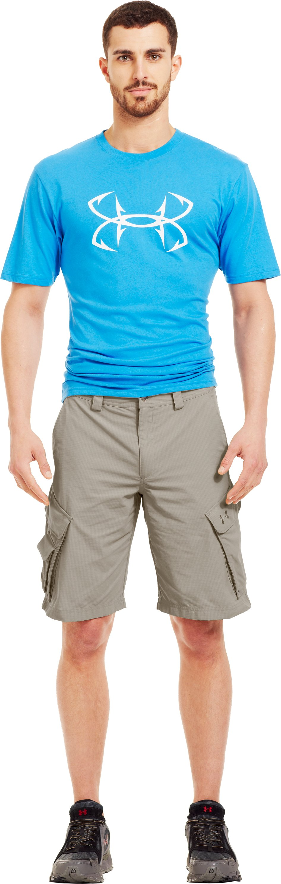 Men's UA Guide III Short, BRANCH, zoomed image