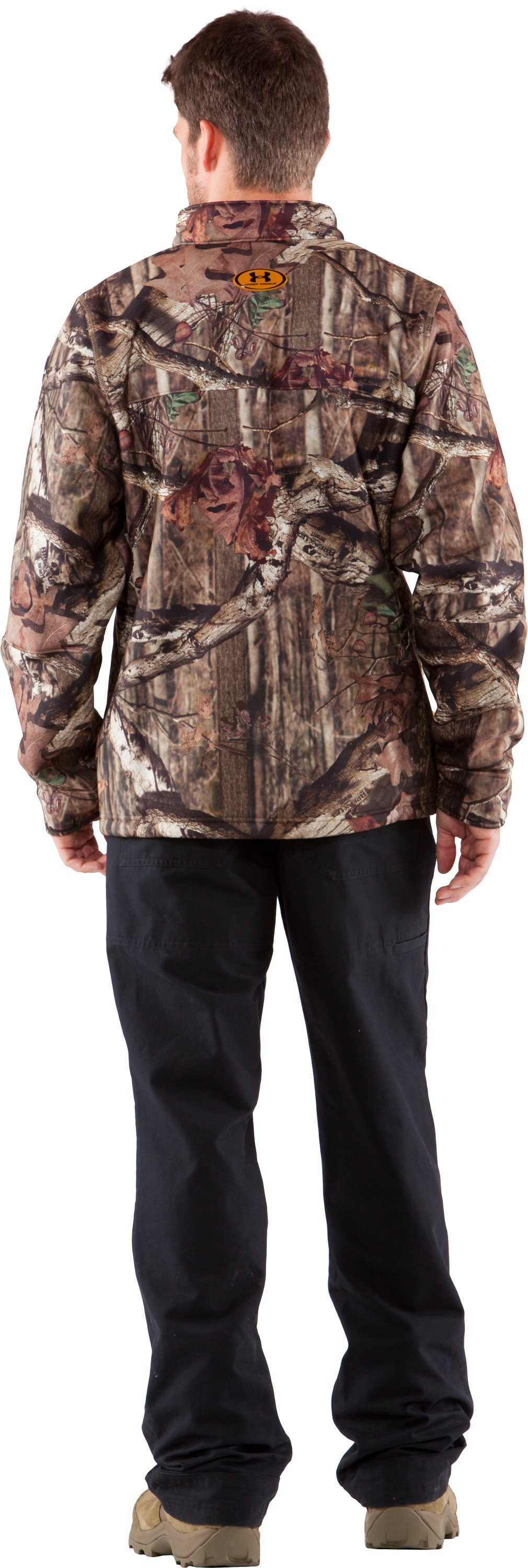 Men's UA Ayton II Fleece Camo Hunting Jacket, Mossy Oak Break-Up Infinity, Back
