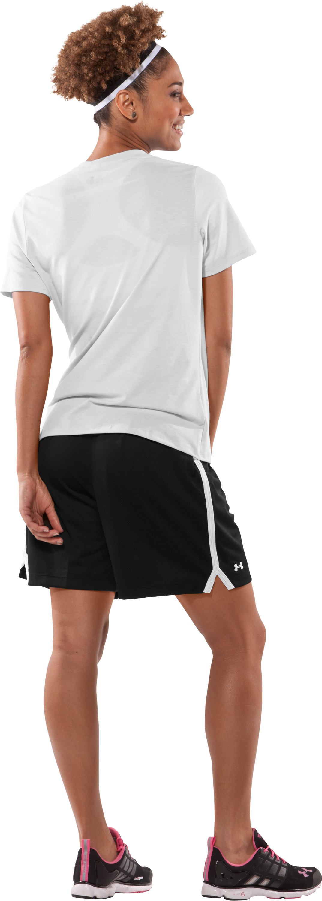 "Women's Skill 6"" Mesh Shorts, Black , Back"