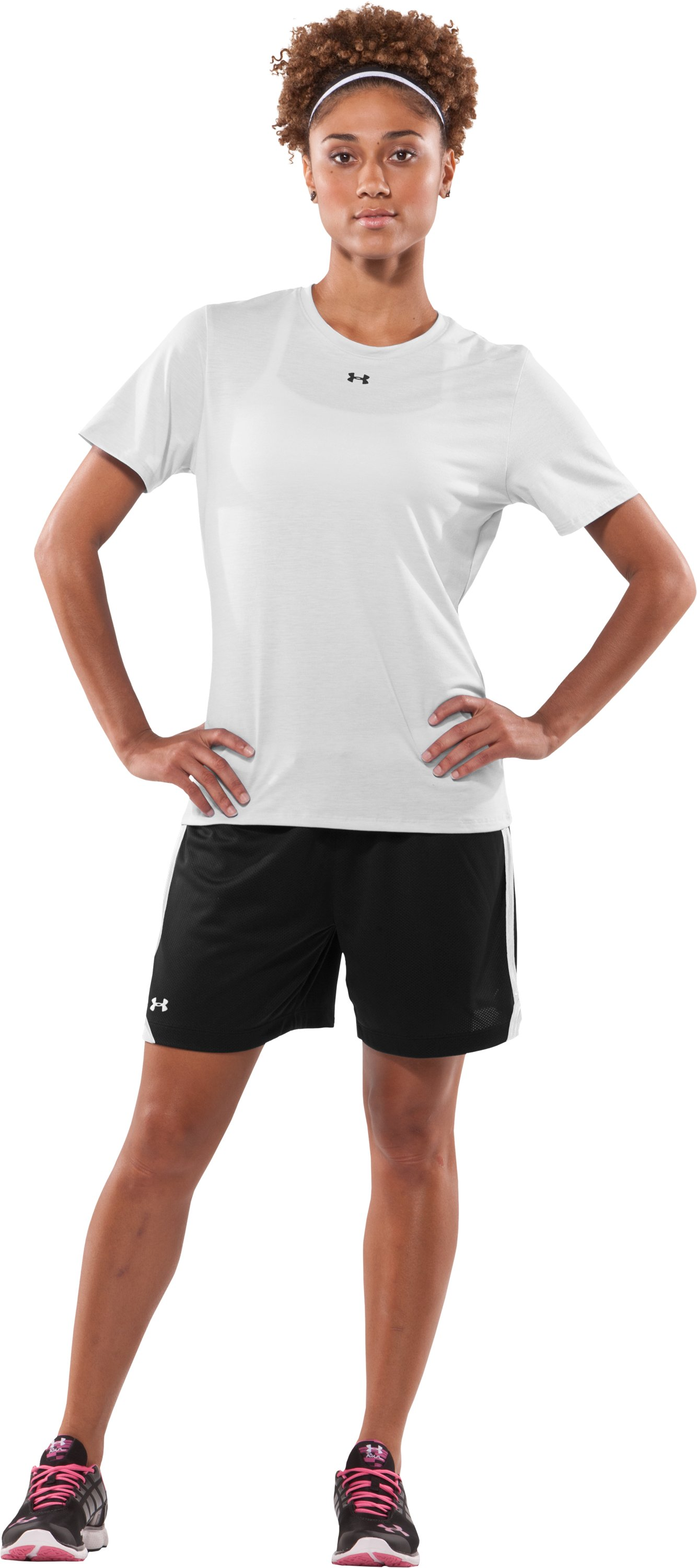 "Women's Skill 6"" Mesh Shorts, Black , Front"