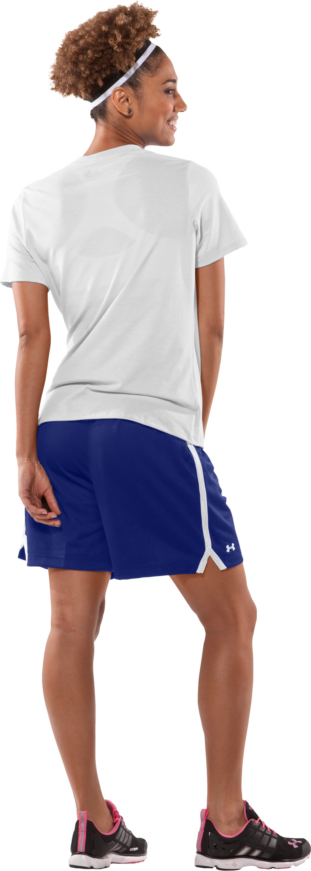 "Women's Skill 6"" Mesh Shorts, Royal, Back"
