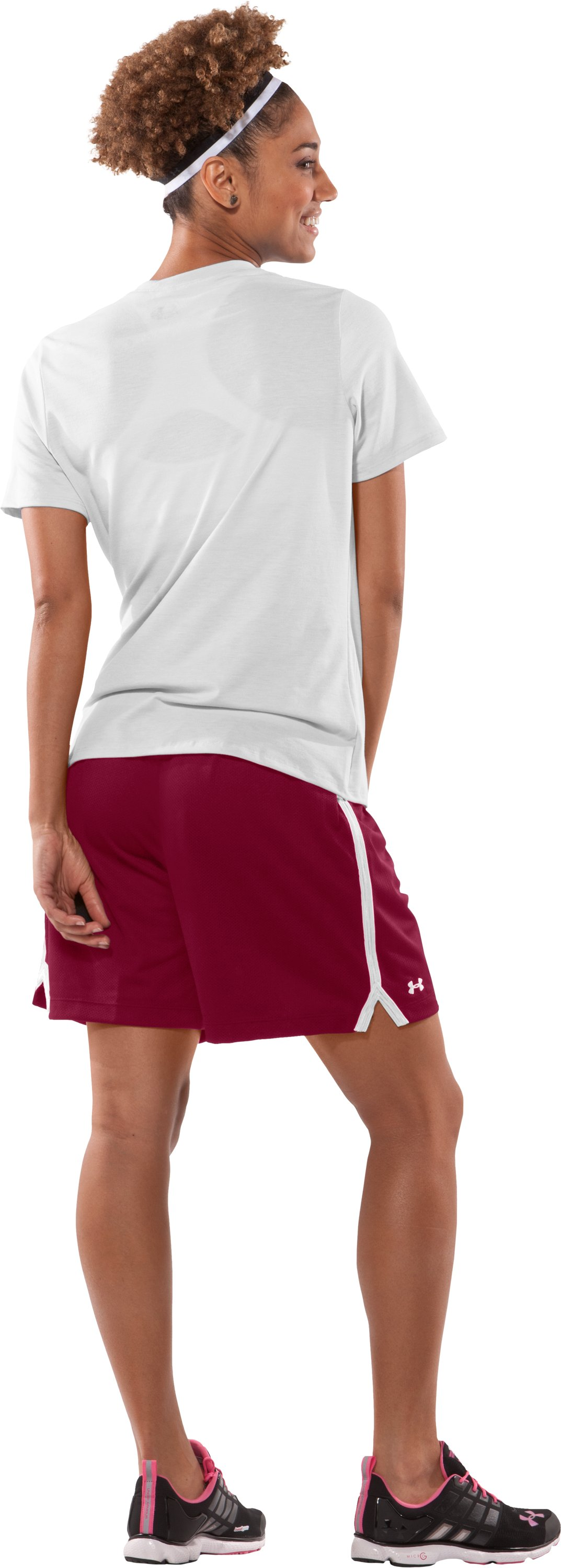 "Women's Skill 6"" Mesh Shorts, Cardinal, Back"