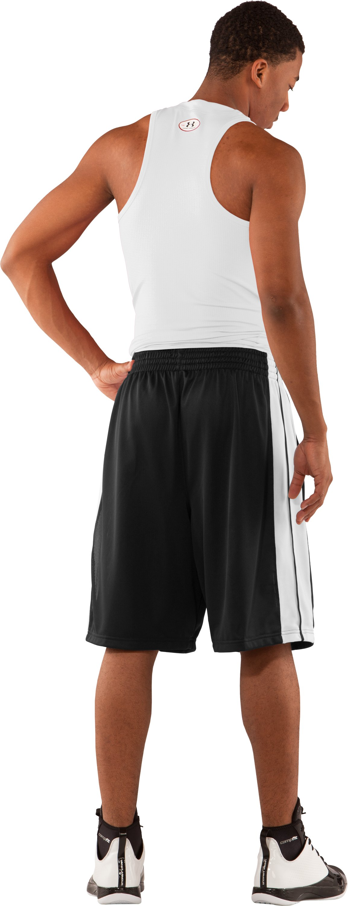 "Men's 10"" Basketball Practice Shorts, Black , Back"