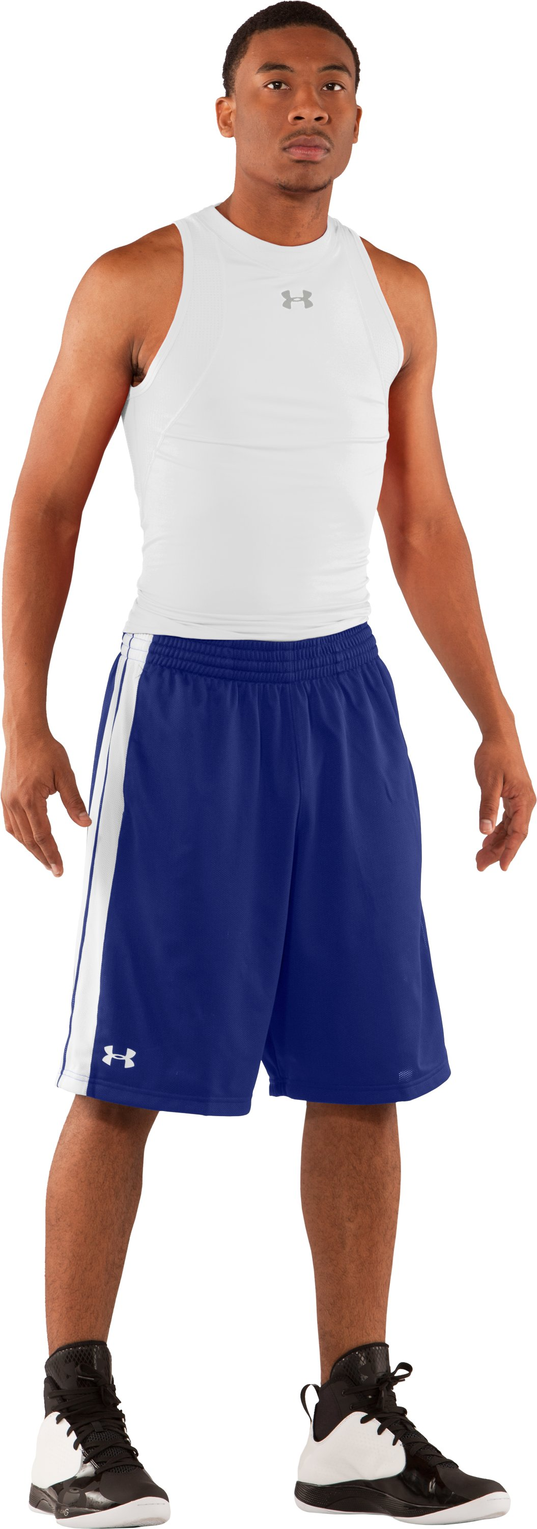 "Men's 10"" Basketball Practice Shorts, Royal, Front"
