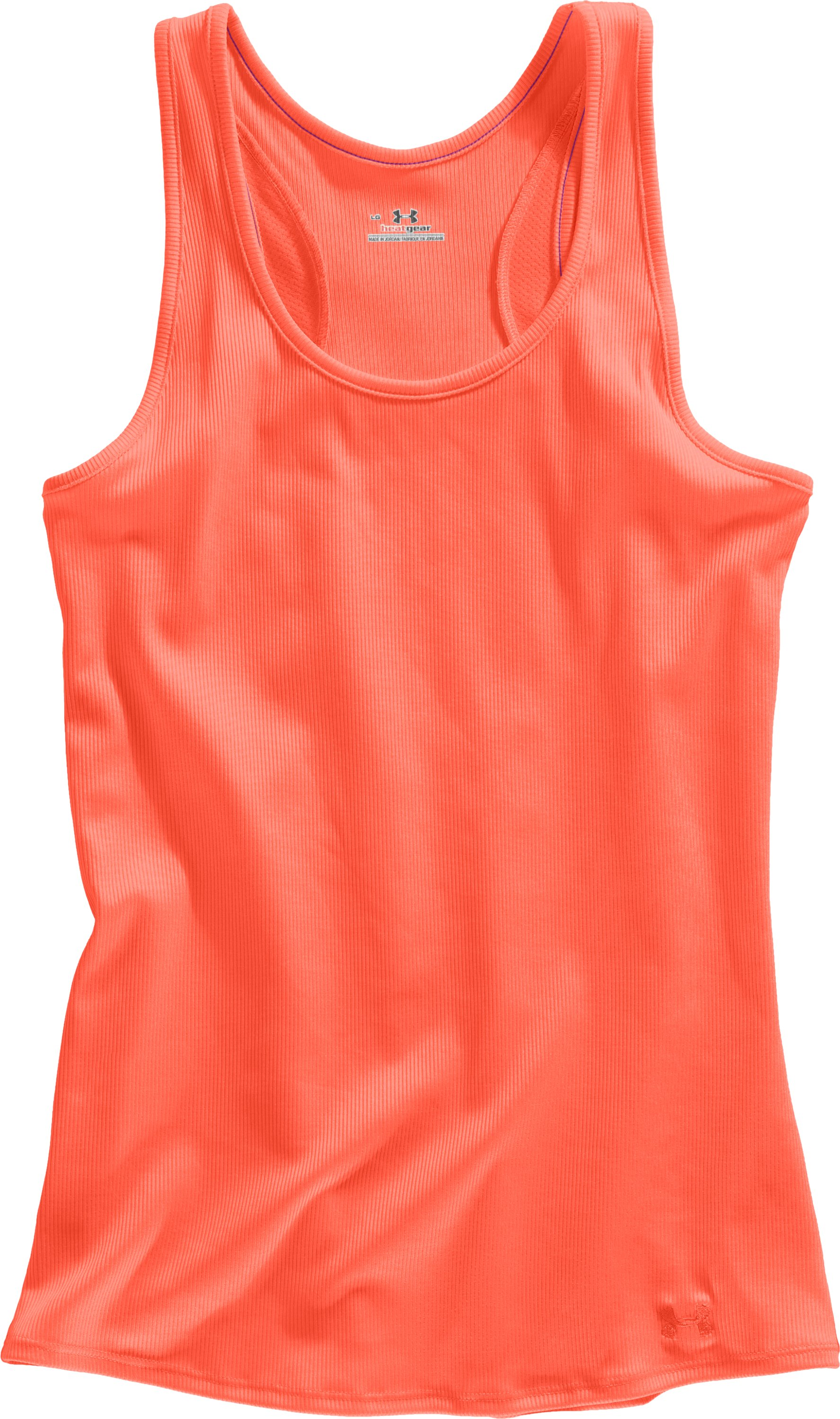 Women's UA Victory Tank Top, ELECTRIC TANGERINE, Laydown