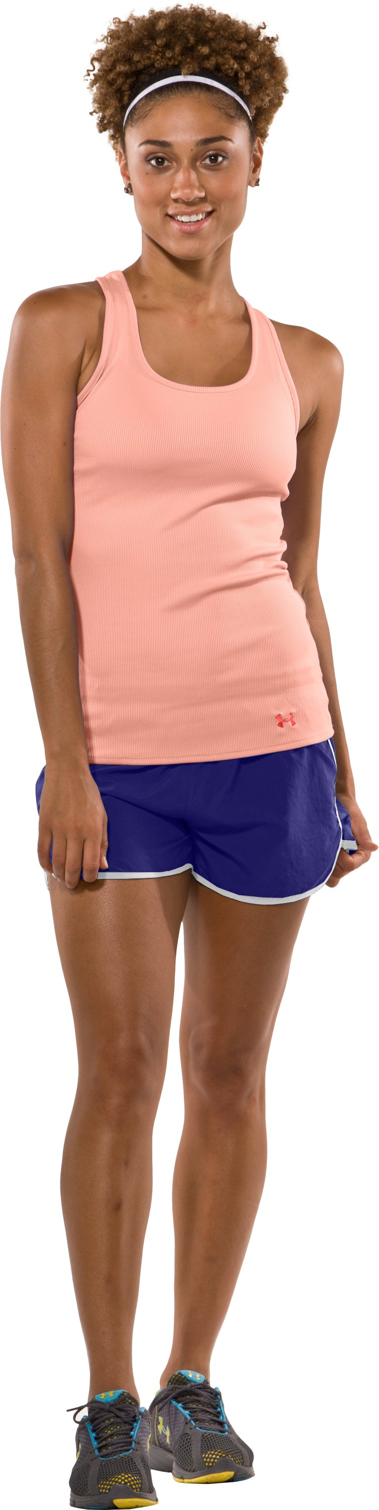 Women's UA Victory Tank Top, Afterglow, Front