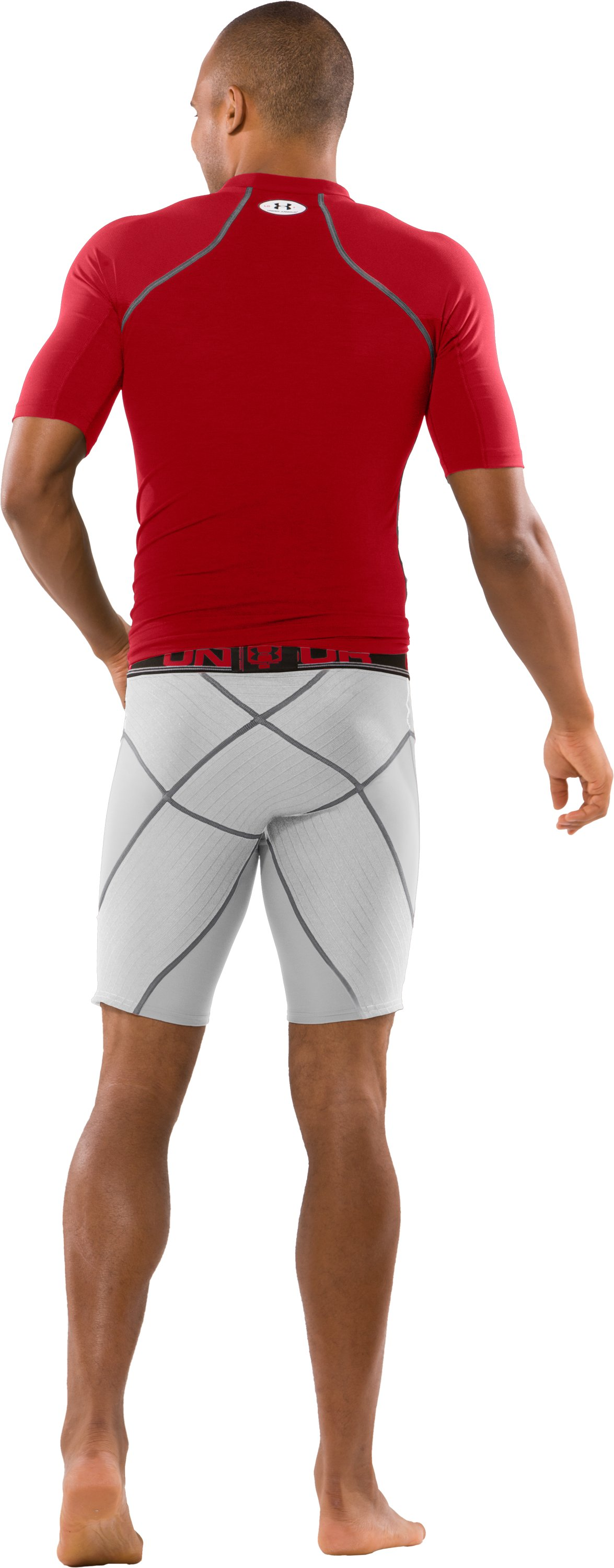 Men's UA Coreshorts Pro, White, Back
