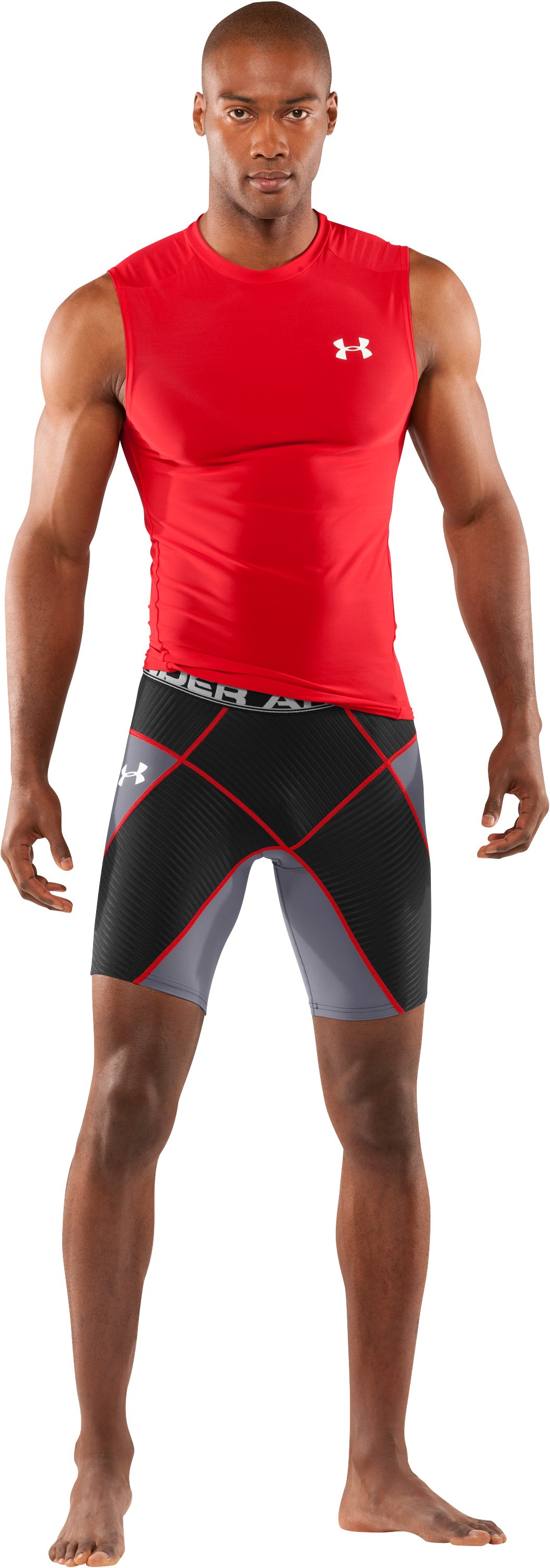 Men's UA Coreshorts, Graphite, Front