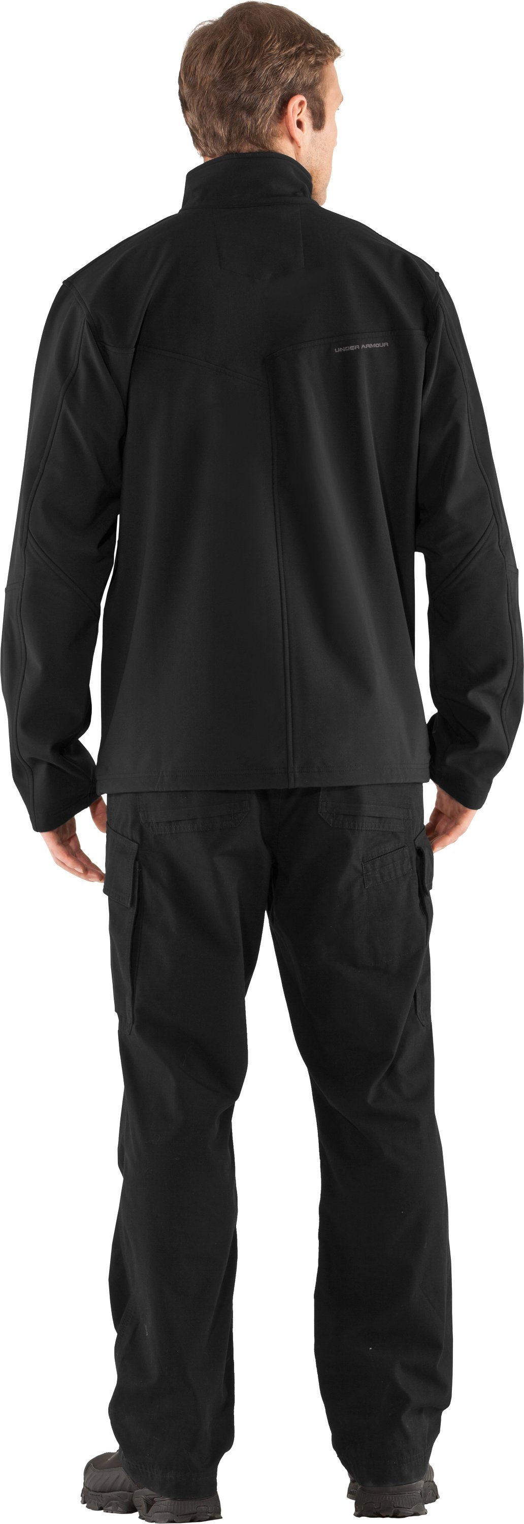 Men's Skyscraper Softshell Jacket, Black , Back