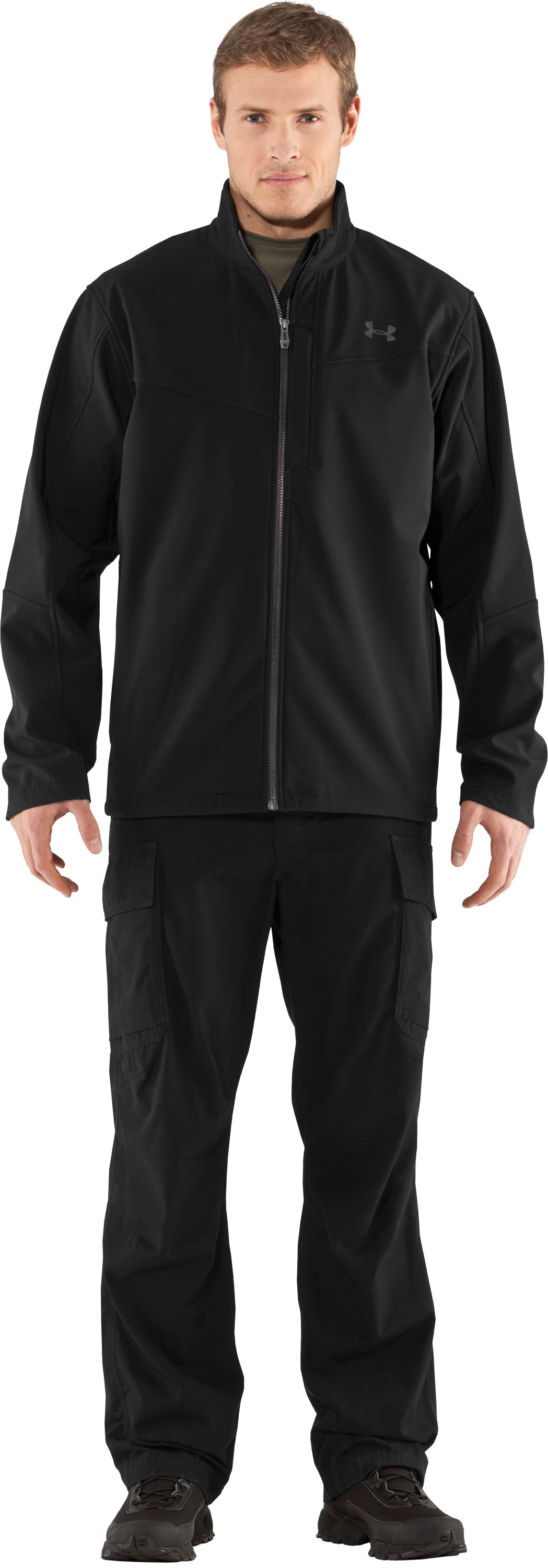 Men's Skyscraper Softshell Jacket, Black , zoomed image