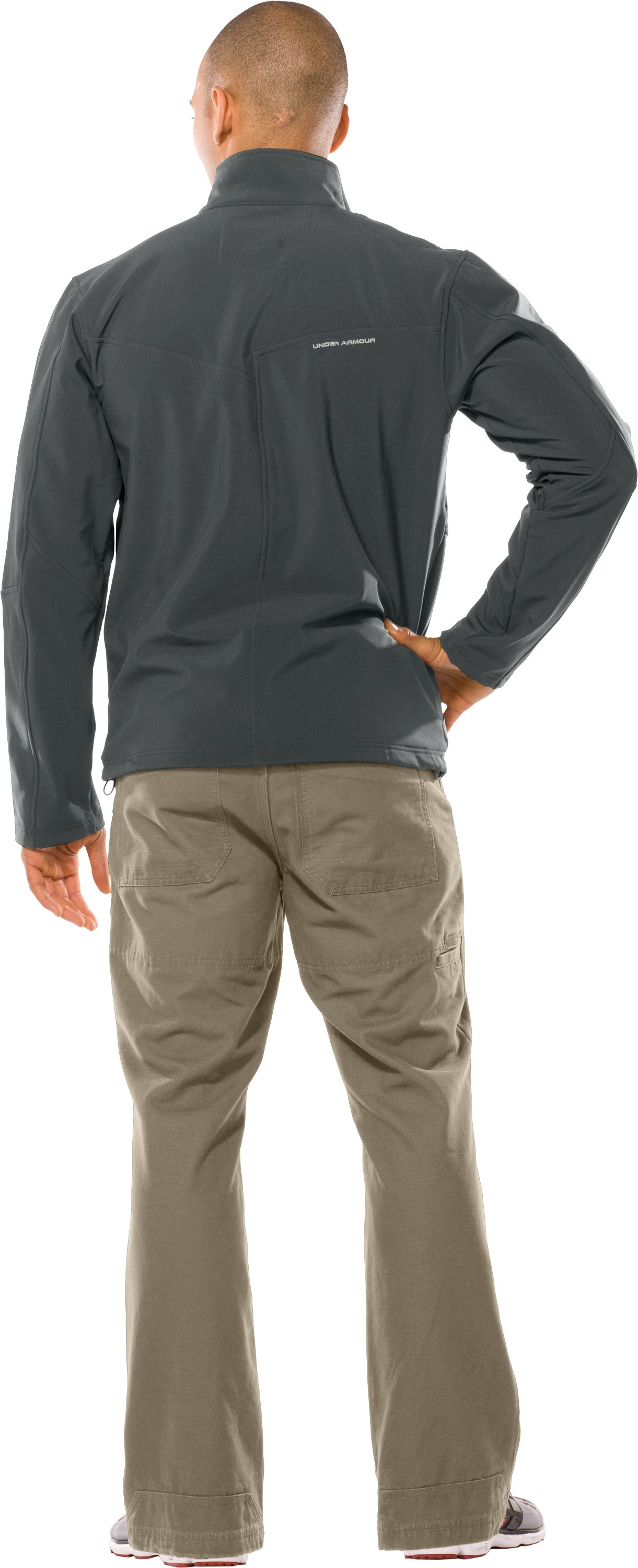 Men's Skyscraper Softshell Jacket, Battleship, Back