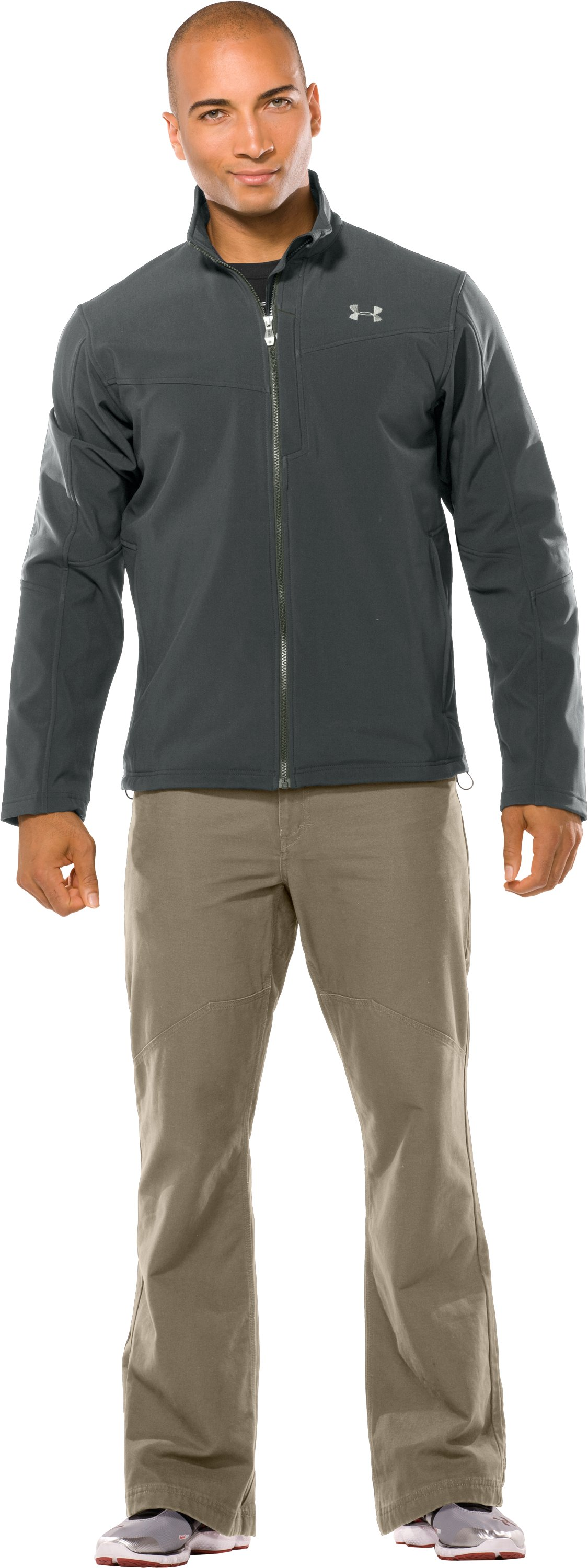 Men's Skyscraper Softshell Jacket, Battleship, Front