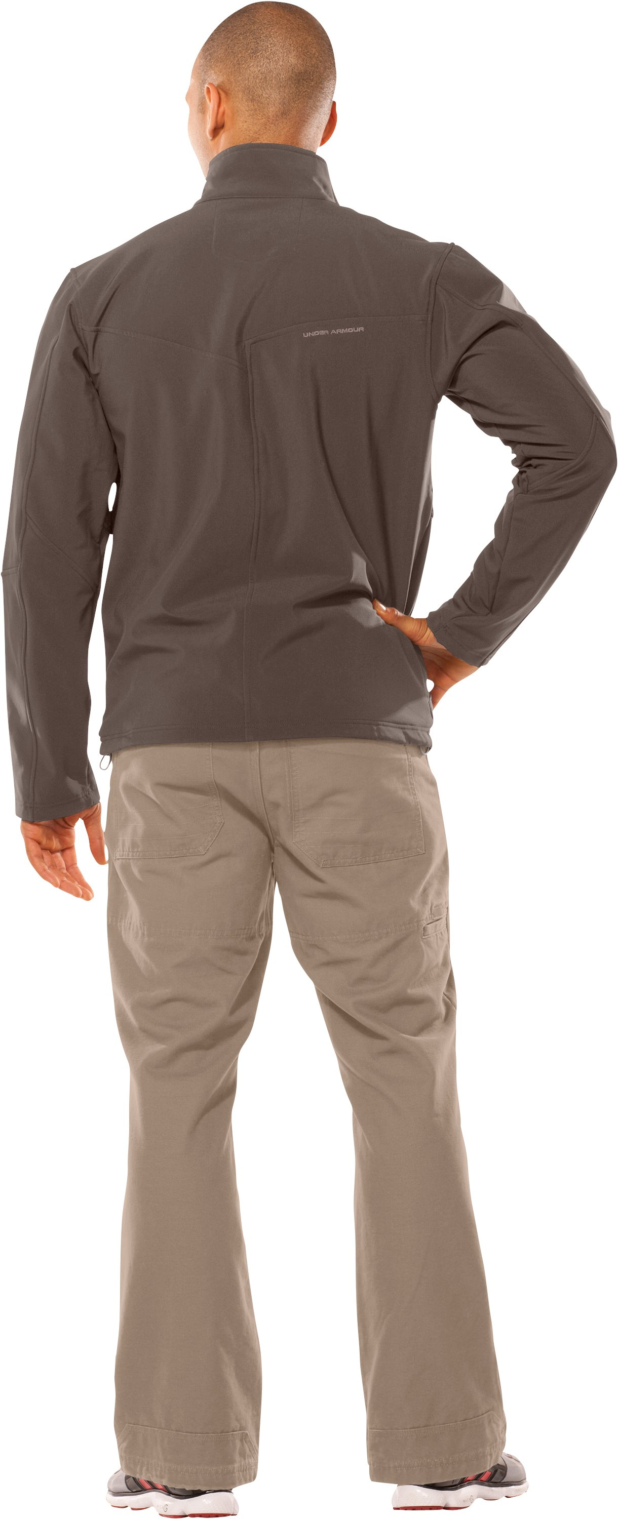 Men's Skyscraper Softshell Jacket, Hearthstone, Back
