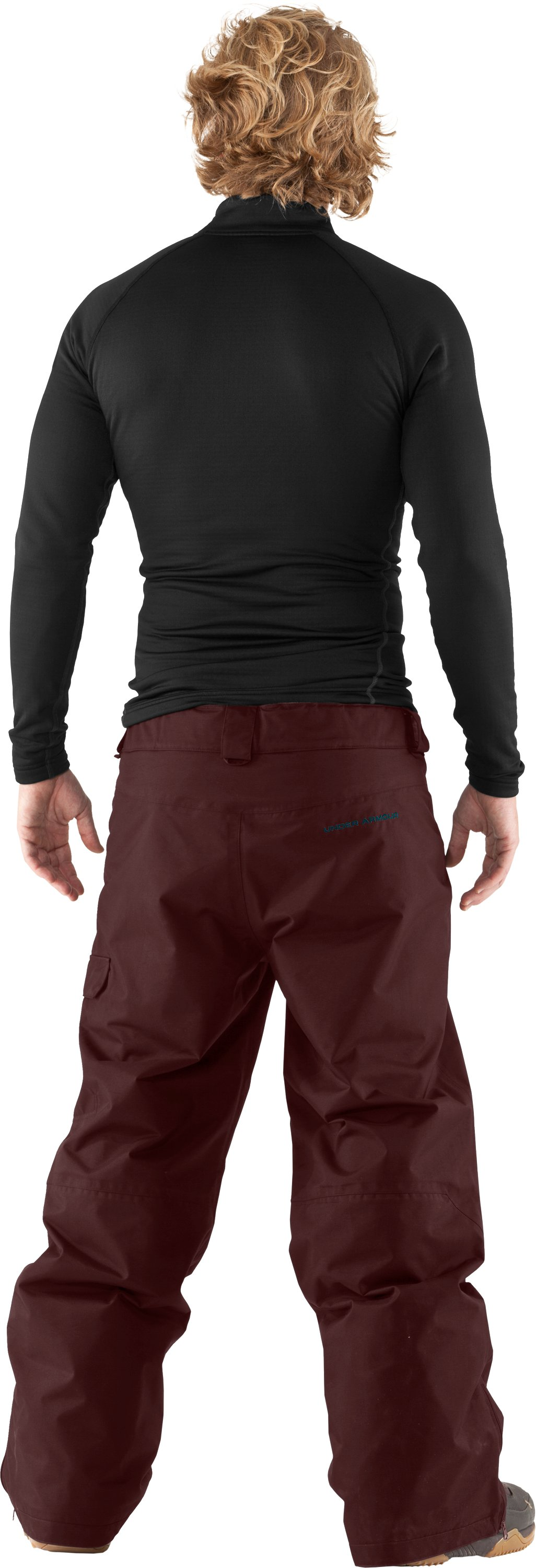 "Men's UA Flow Field 32"" Ski/Snowboard Pants, Prune, Back"