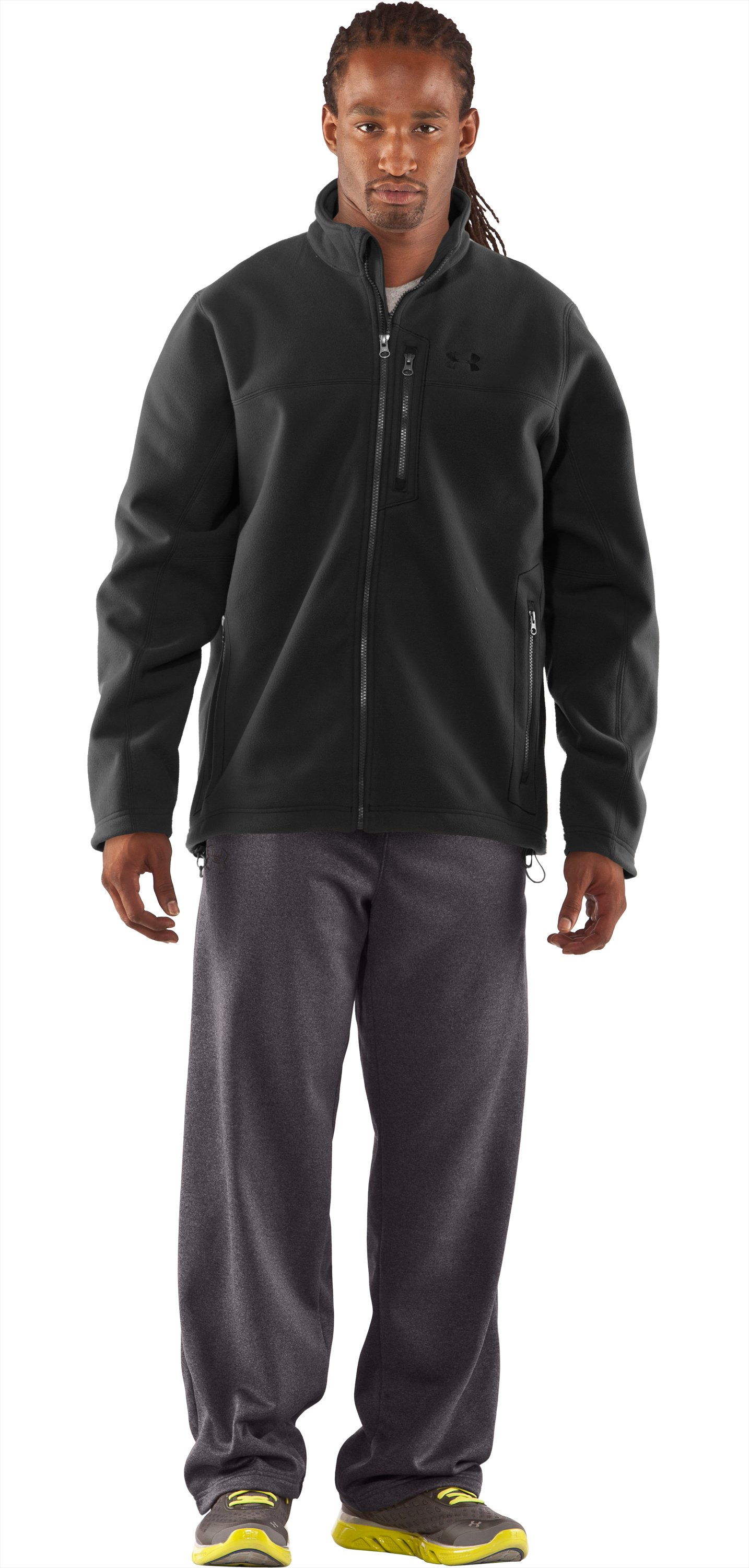 Men's Derecho II Windproof Fleece Jacket, Black , Front