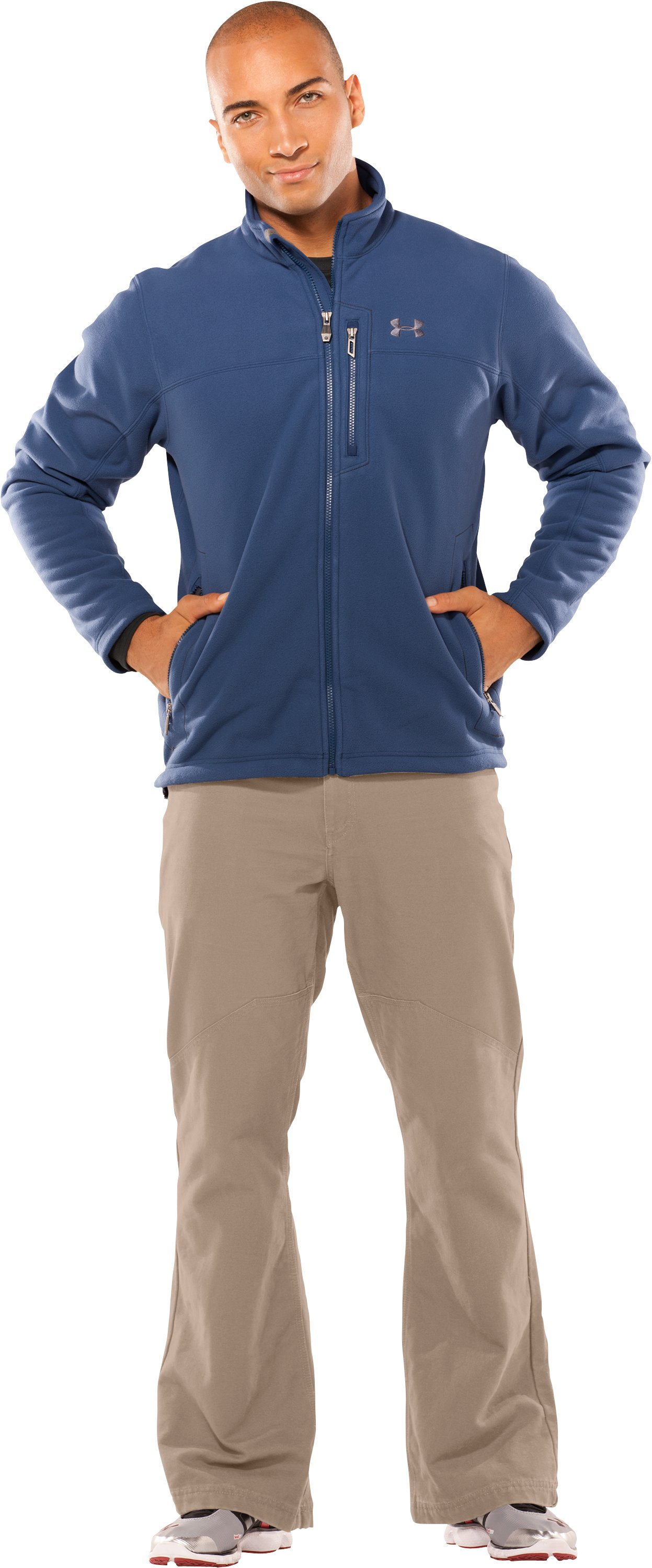 Men's Derecho II Windproof Fleece Jacket, Admiral, Front