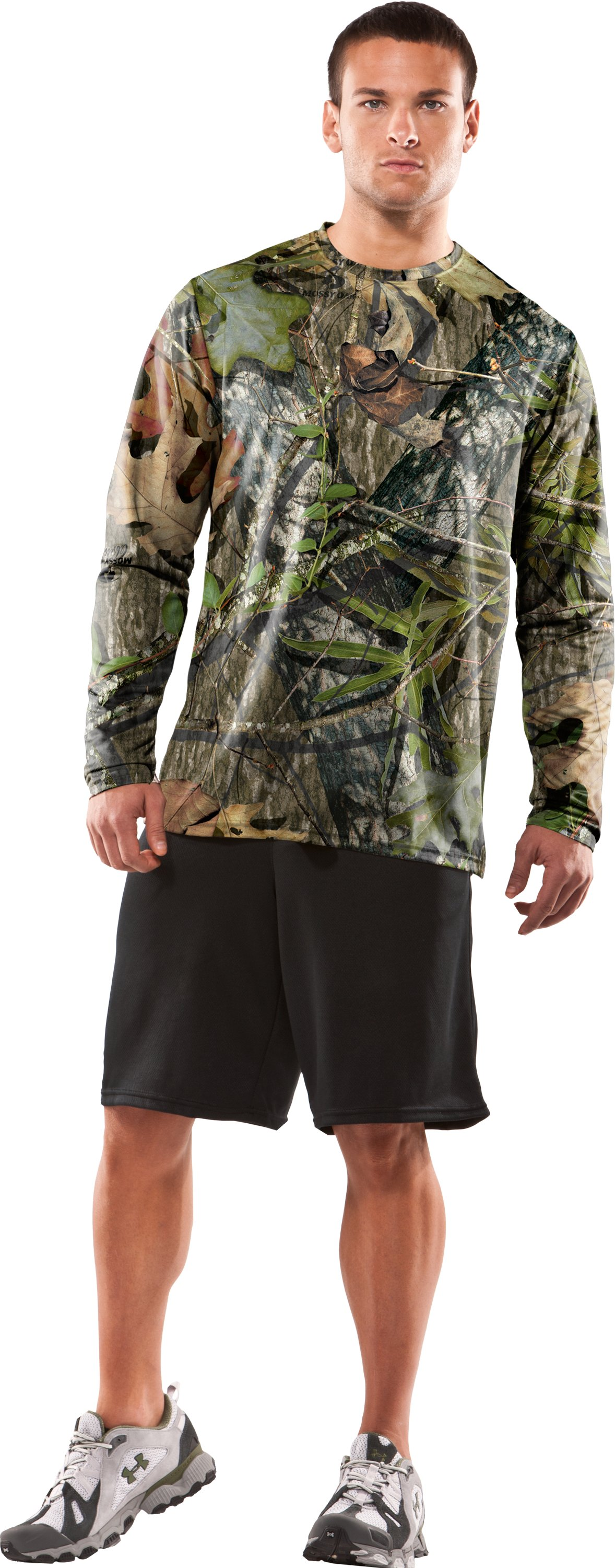 Men's Evolution HeatGear® Long Sleeve Camo T-Shirt, Mossy Oak Obsession