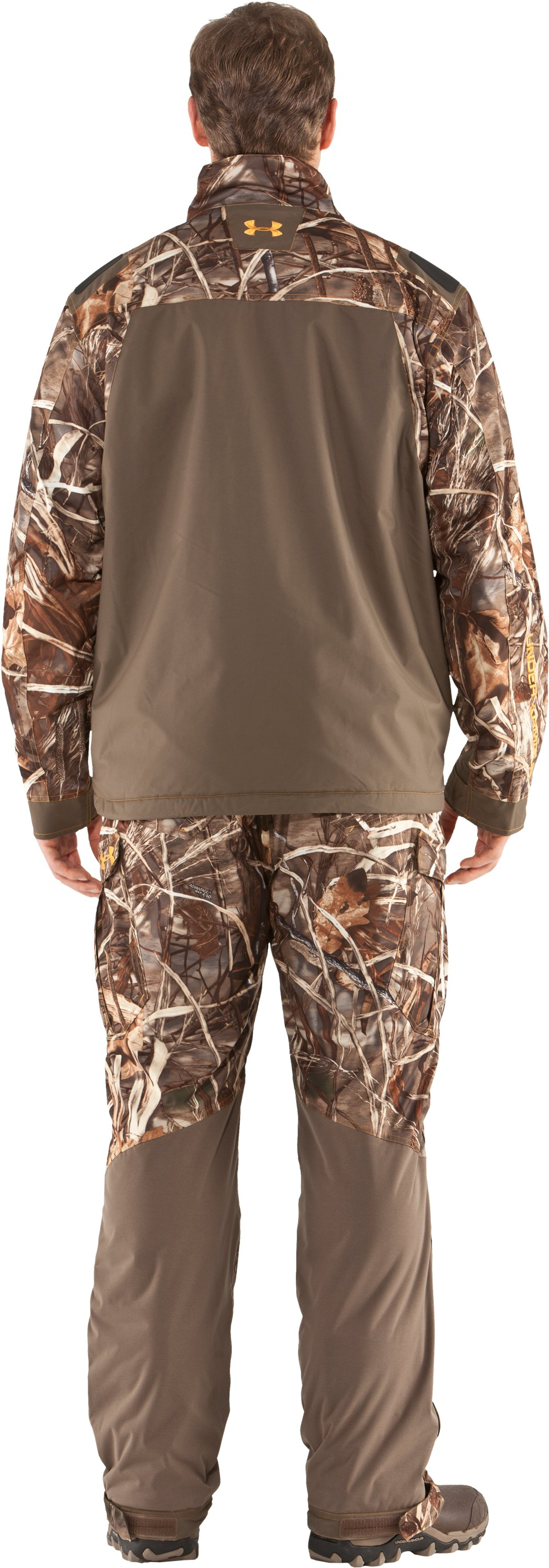 Men's Skysweeper Camo Hunting Jacket, Realtree Max, Back