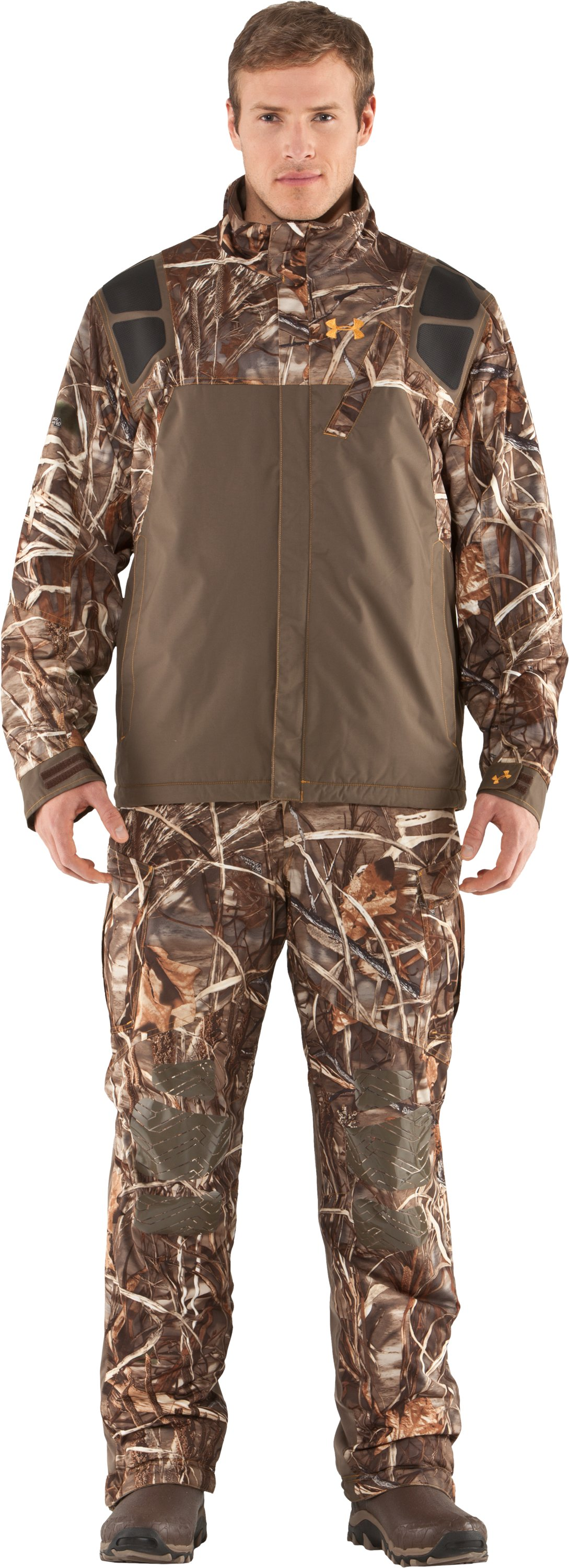 Men's Skysweeper Camo Hunting Jacket, Realtree Max, Front