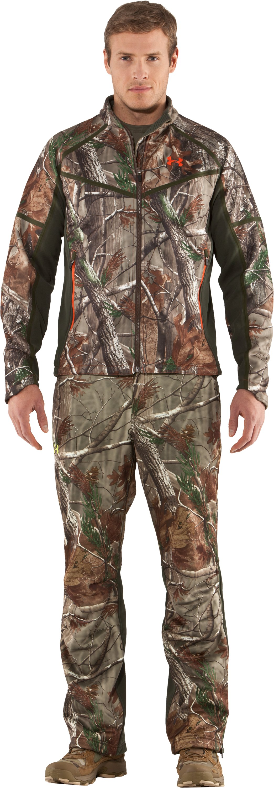 Men's Ridge Reaper® Softshell Camo Hunting Jacket, Realtree AP, Front