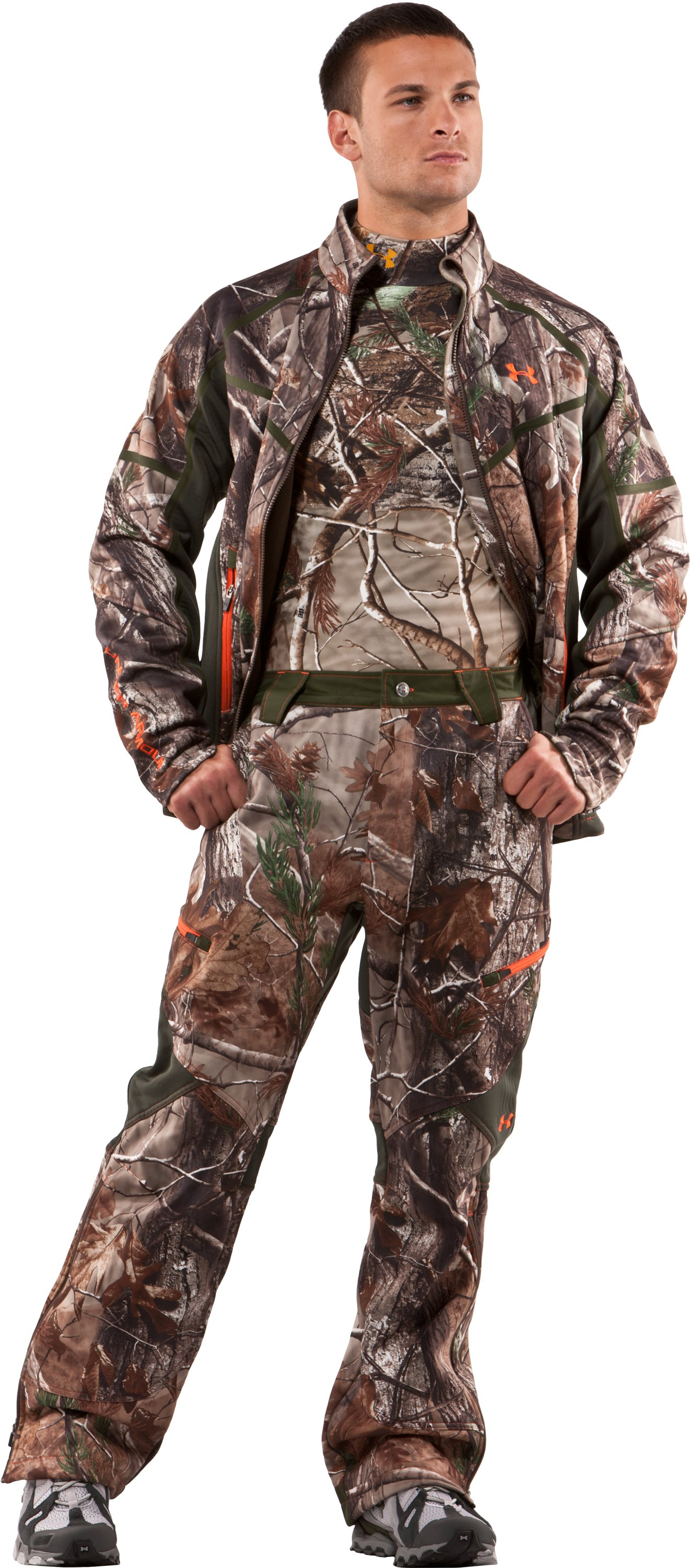 "Men's Ridge Reaper® 32"" Softshell Pants, Realtree AP, Front"