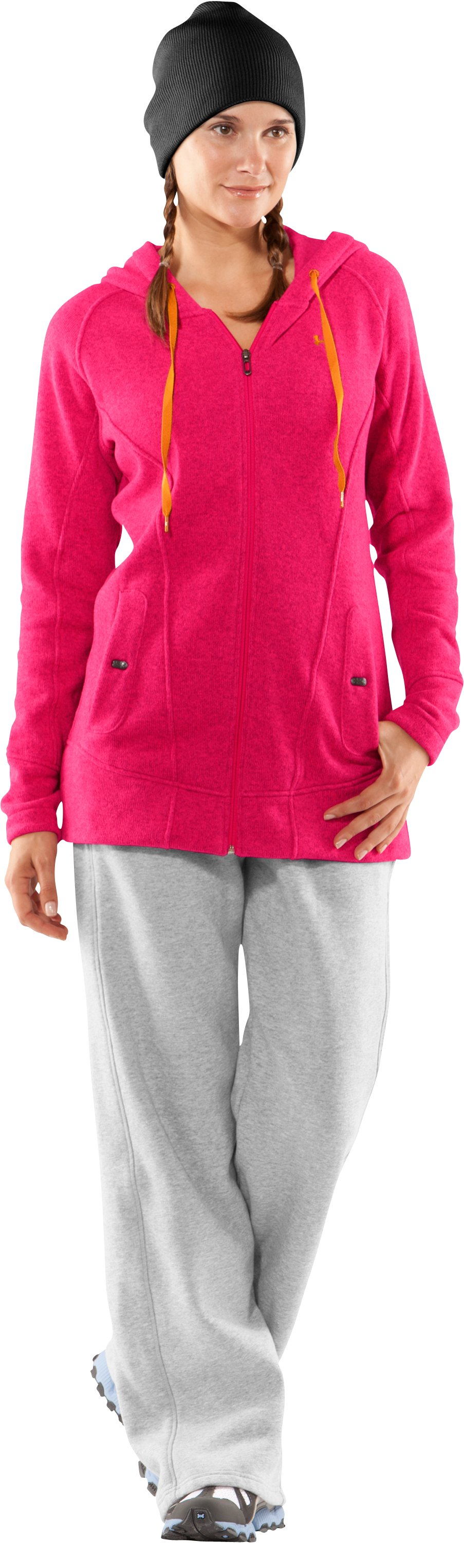 Women's Wintersweet Full Zip Fitted Hoodie, Hollywood, zoomed image