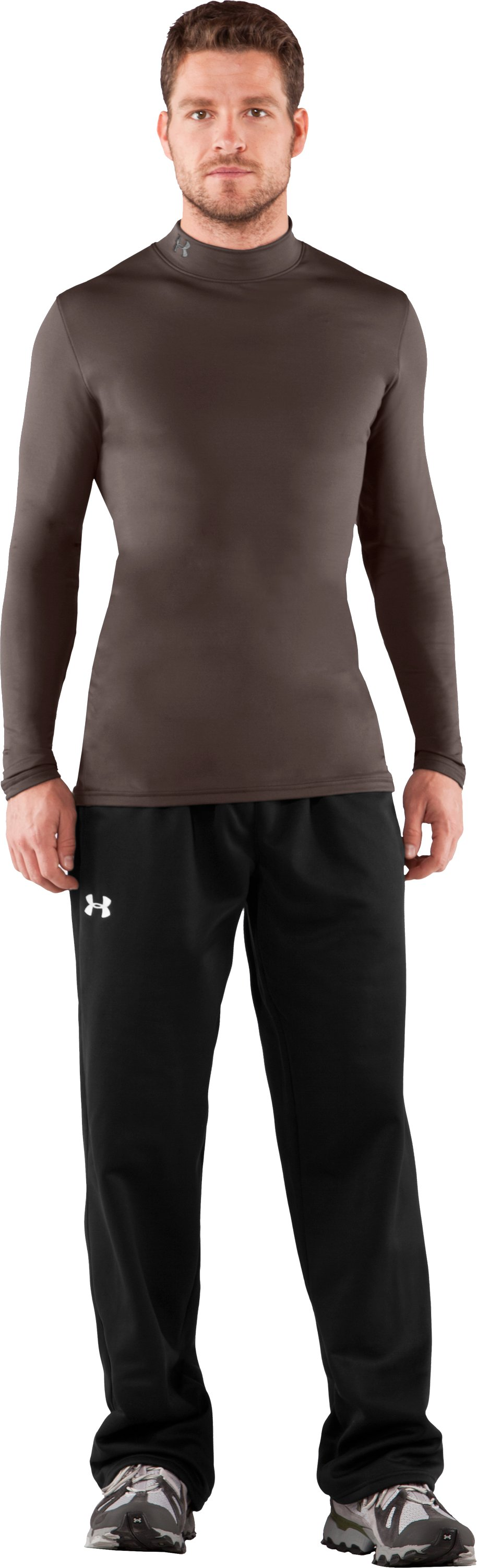 Men's UA EVO ColdGear® Fitted Mock, Timber