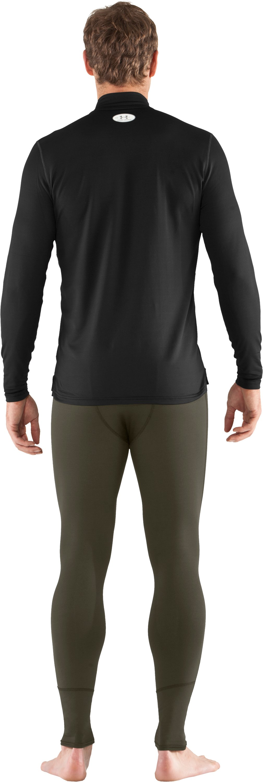Men's UA EVO ColdGear® Leggings, Sage, Back
