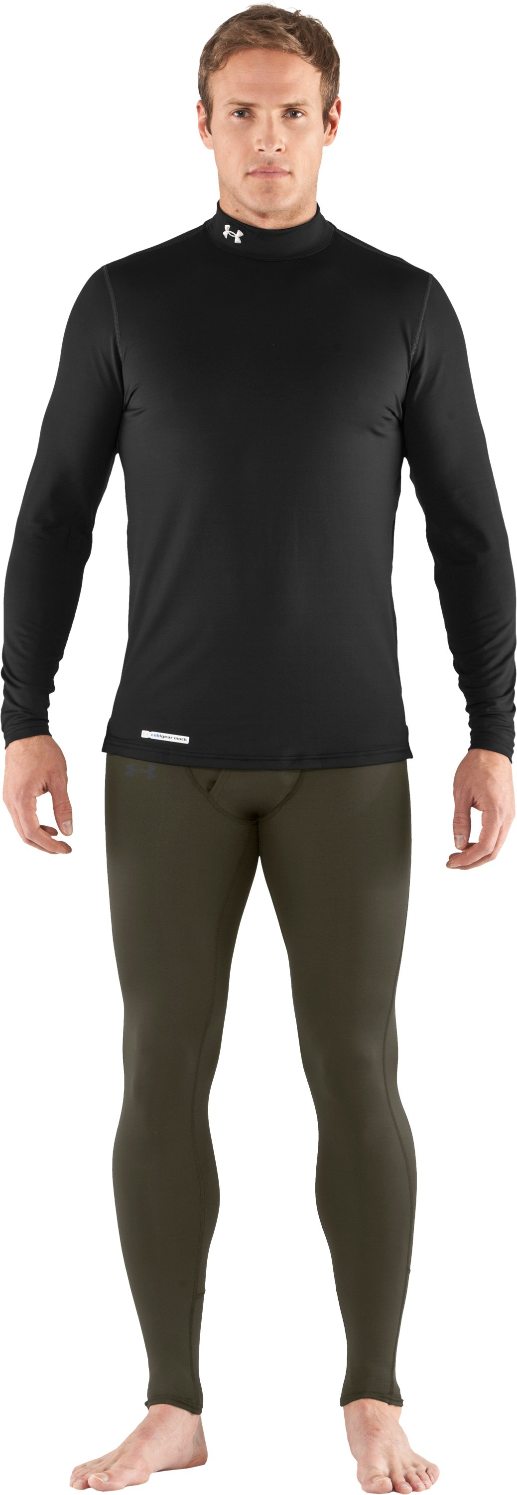 Men's UA EVO ColdGear® Leggings, Sage, zoomed image